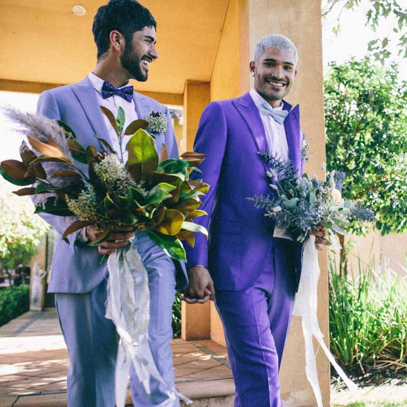 ISRAEL + RIQUE   These beautiful images had me tearing up when I looked through them. I am SO happy that Australia has recognised that Love is Love! Plus, don't these two just make my flowers look amazing!