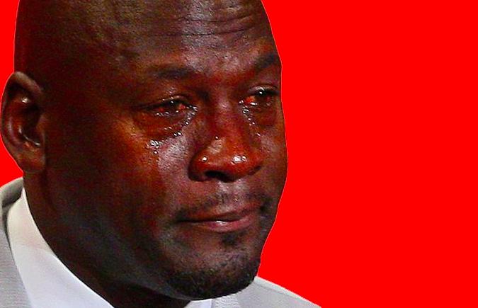 The notorious michael jordan cry face
