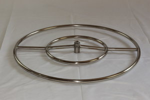 HPC 12-Inch Round Black Steel Single-Ring Natural Gas Fire Pit Ring Burner Only