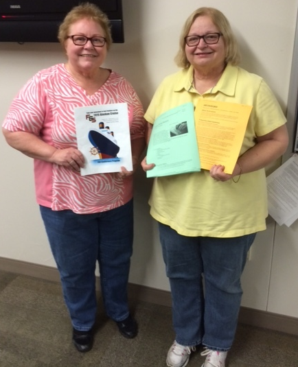 Connie Martin and Nancy Hoover discussed information from their Federation of Genealogical Societies Alaskan Cruise