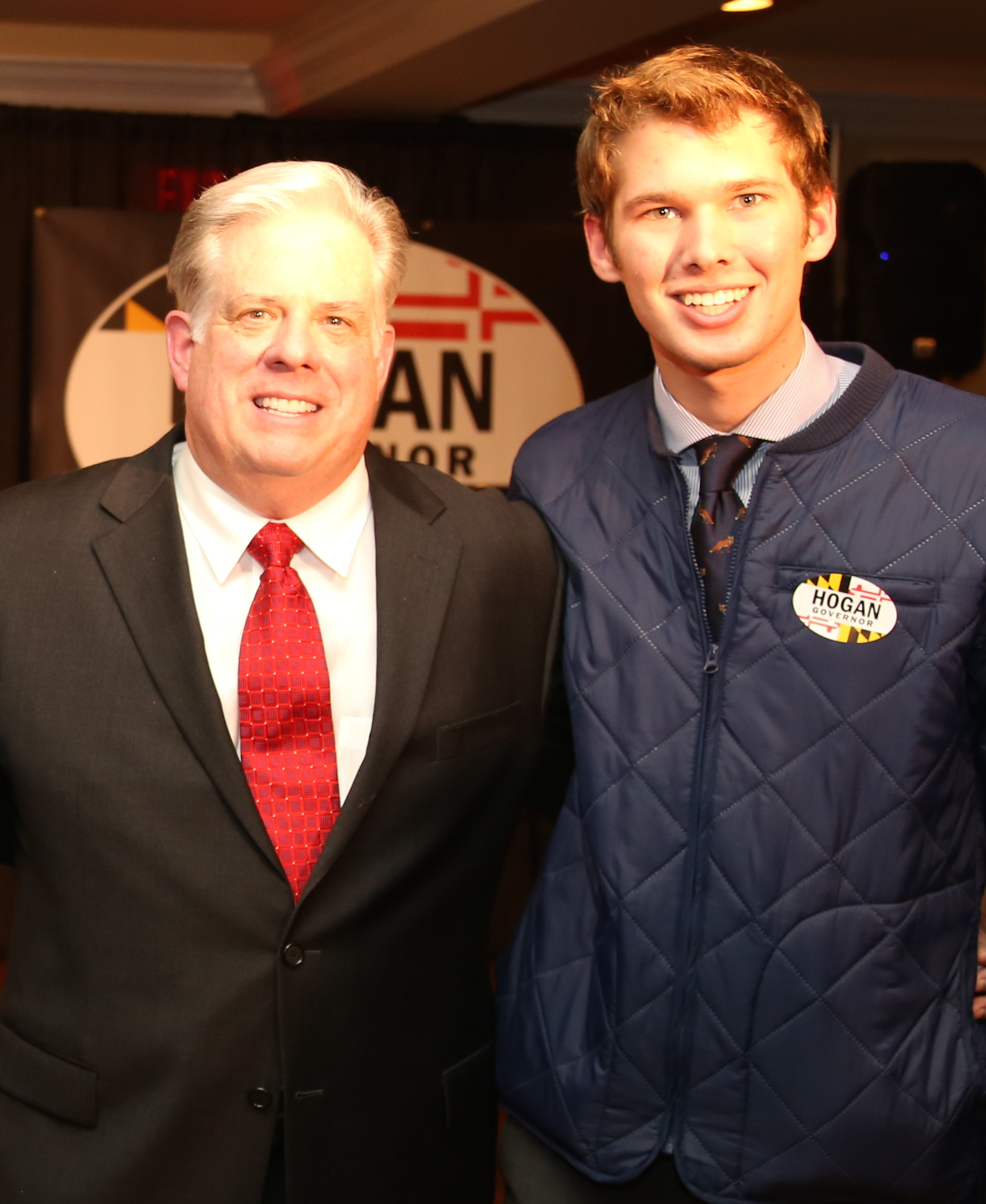 Jake and Governor Larry Hogan. January 2014