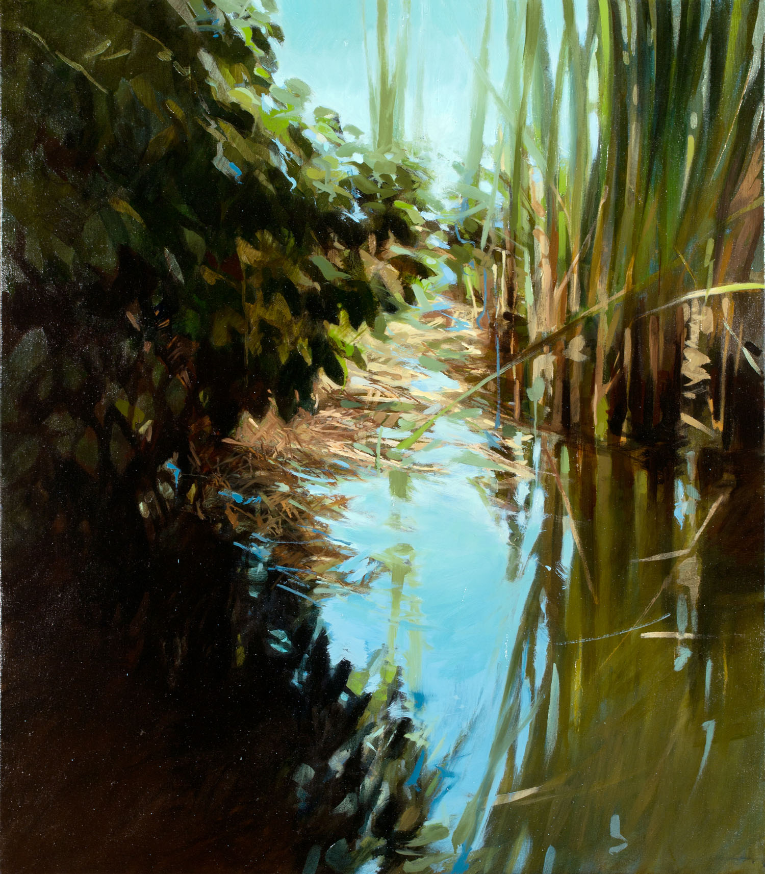 Pond II   48 x 42 inches  oil on canvas - SOLD