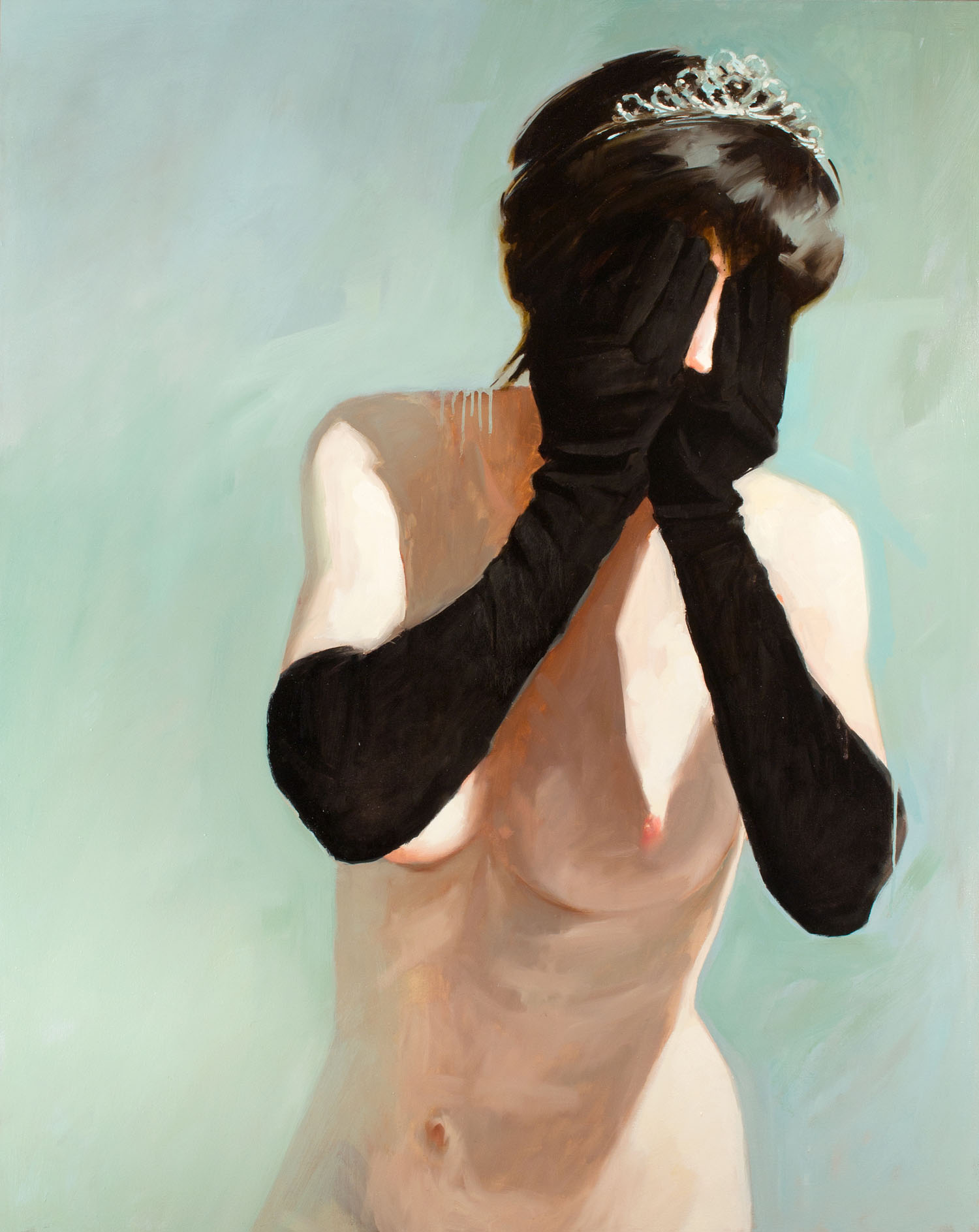 Black Gloves, No. 1   60 x 48 inches  oil on canvas - SOLD