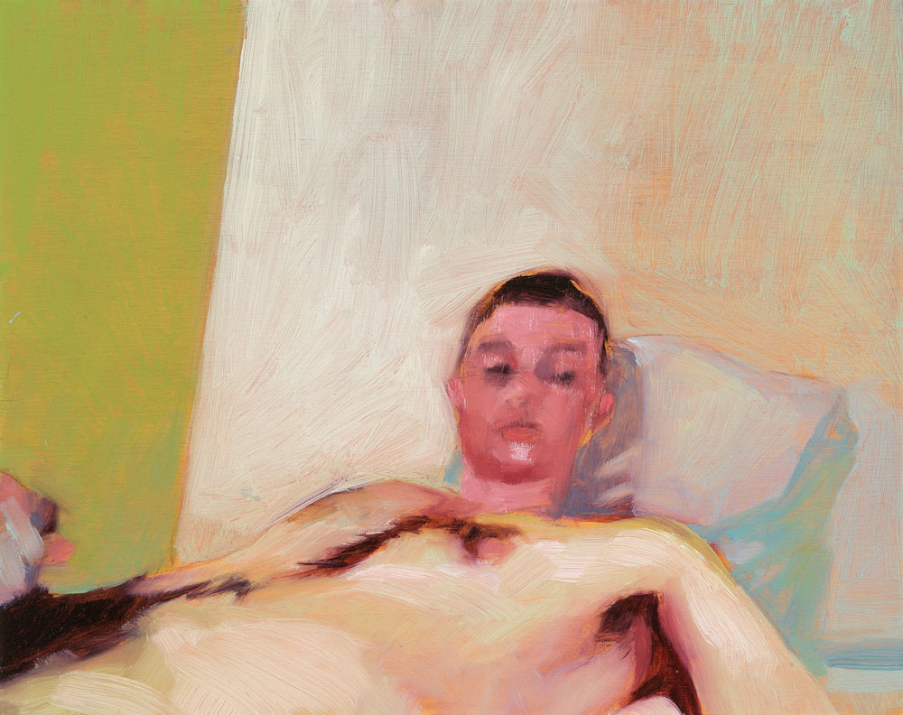 Screen Grab No. 4   8 x 10 inches  oil on panel - SOLD