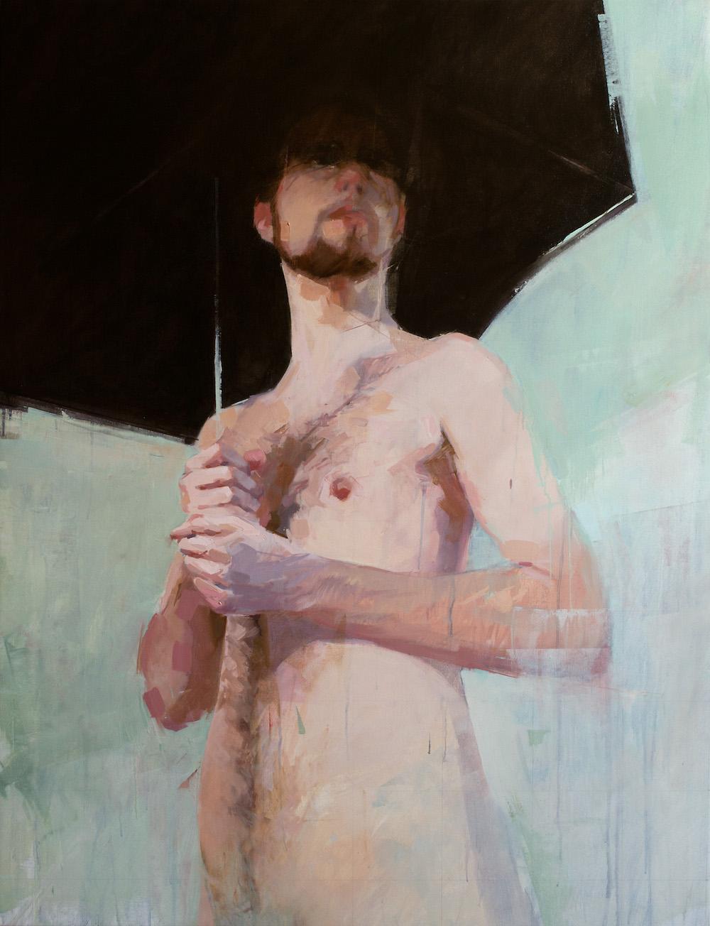 Umbrella I   52 x 40 inches  oil on canvas
