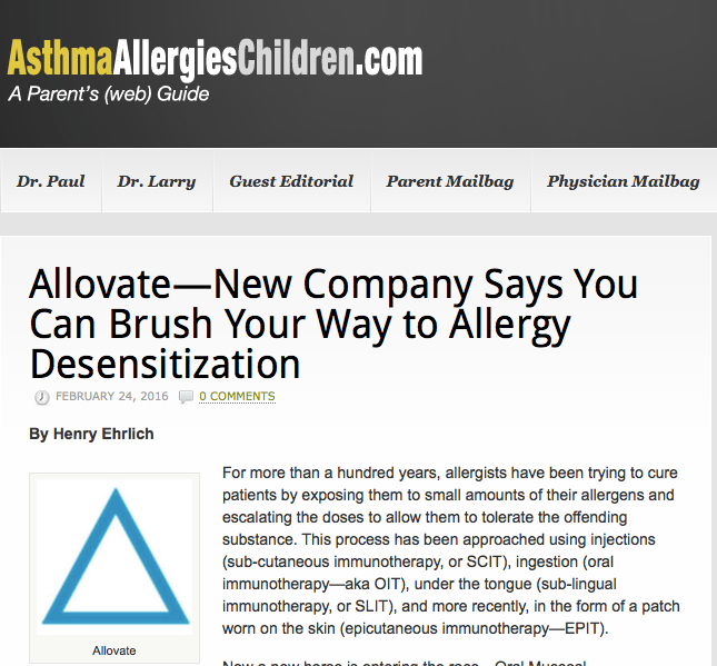 Allergy toothpaste