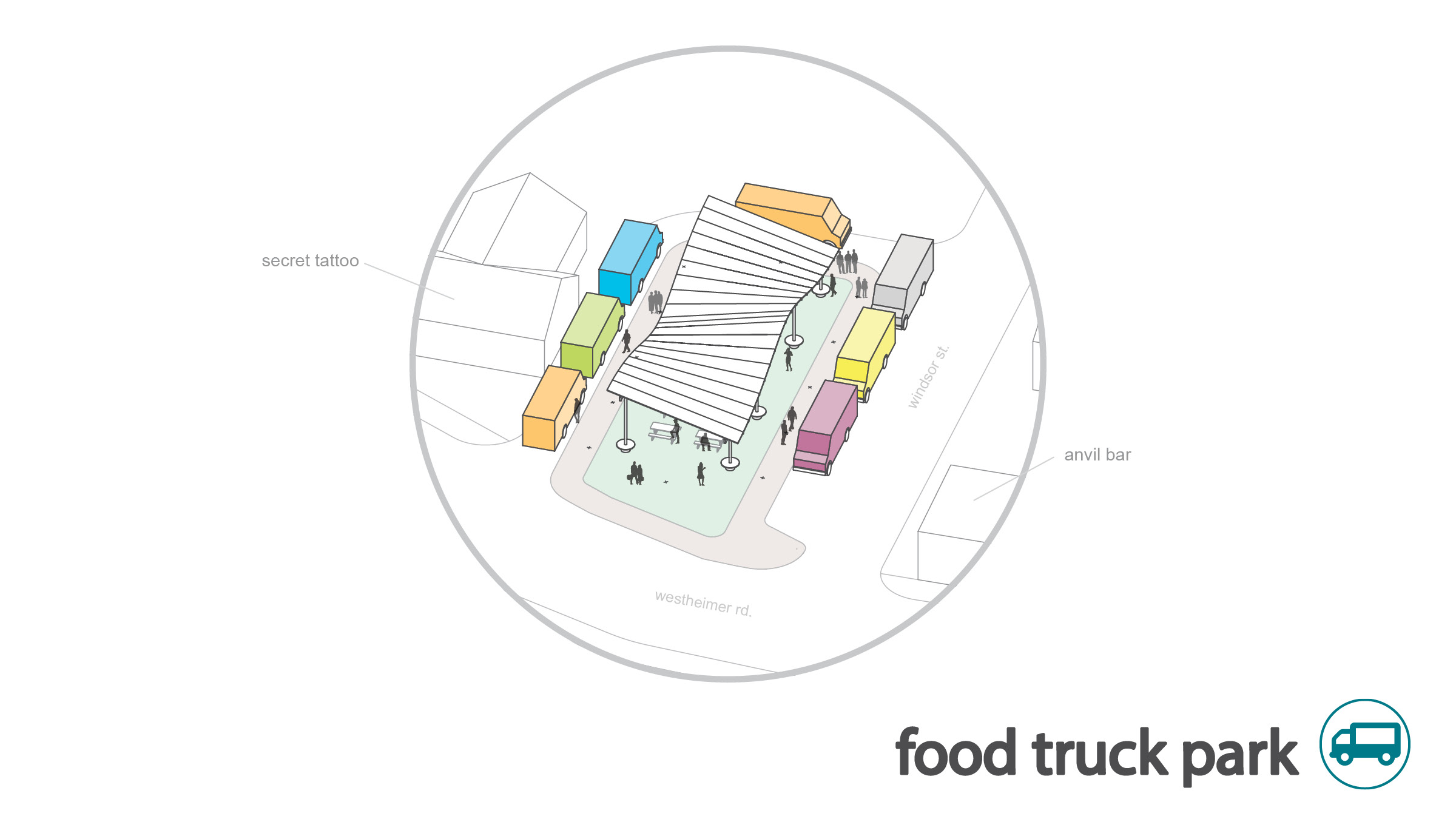food truck park become permit in phase 02 and is now the premier food truck park in Houston, allowing new food trucks to debut to the public