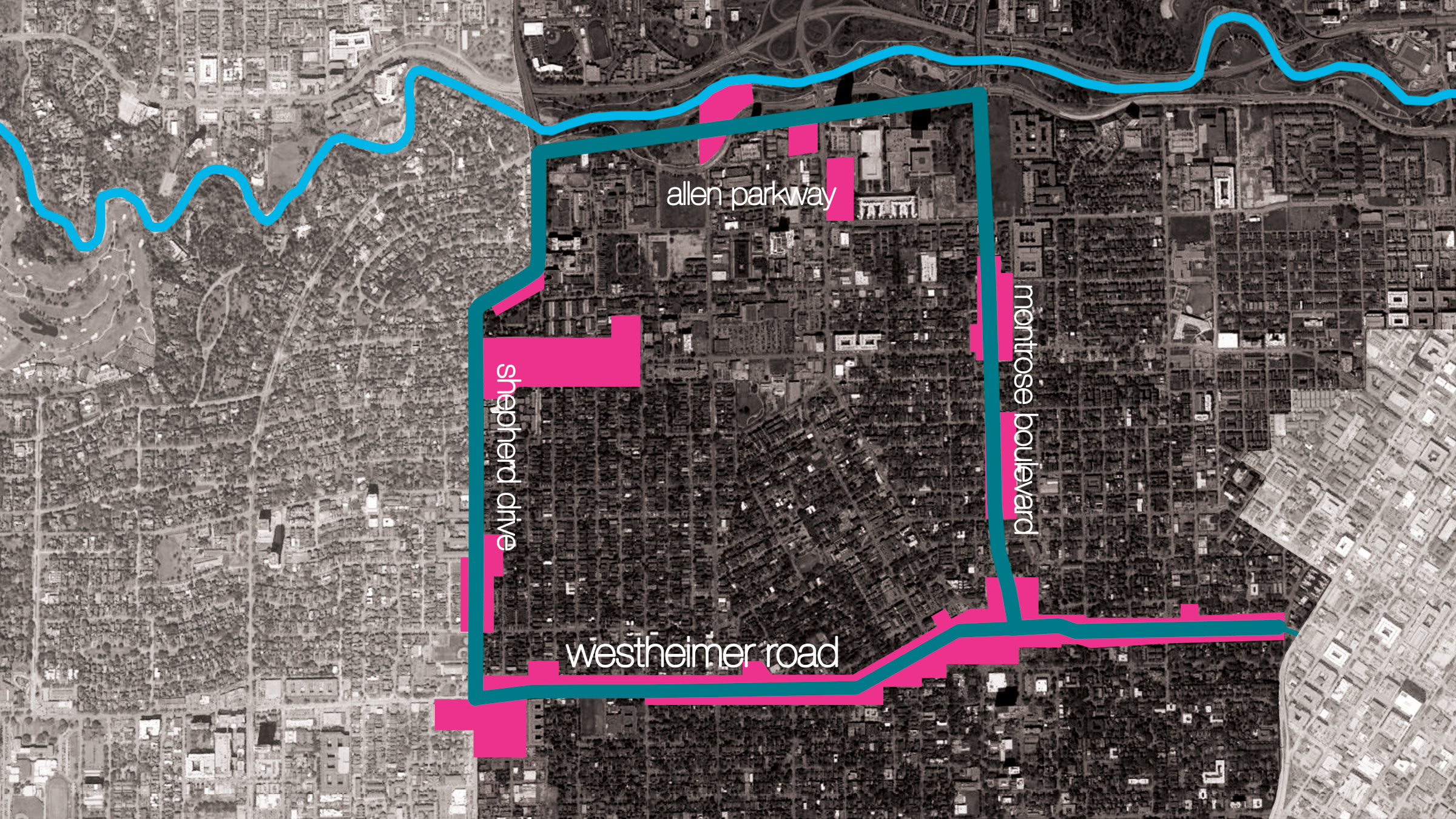 In phase 04 the gondola system proves to be successful and is extended to connect shepherd drive, allen parkway, montrose boulevard, and downtown