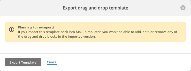 mail chimp template
