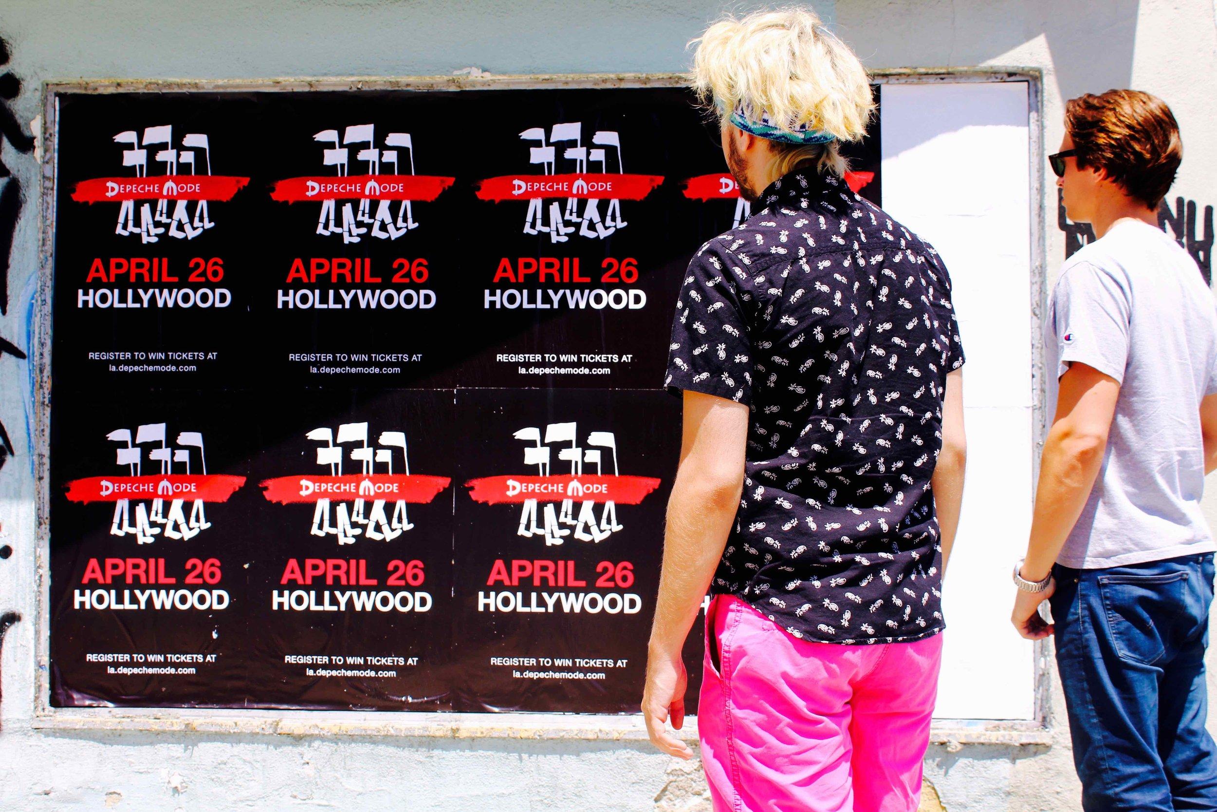 OMG | Guerilla Marketing | Wild Posting | Depeche Mode | Los Angeles
