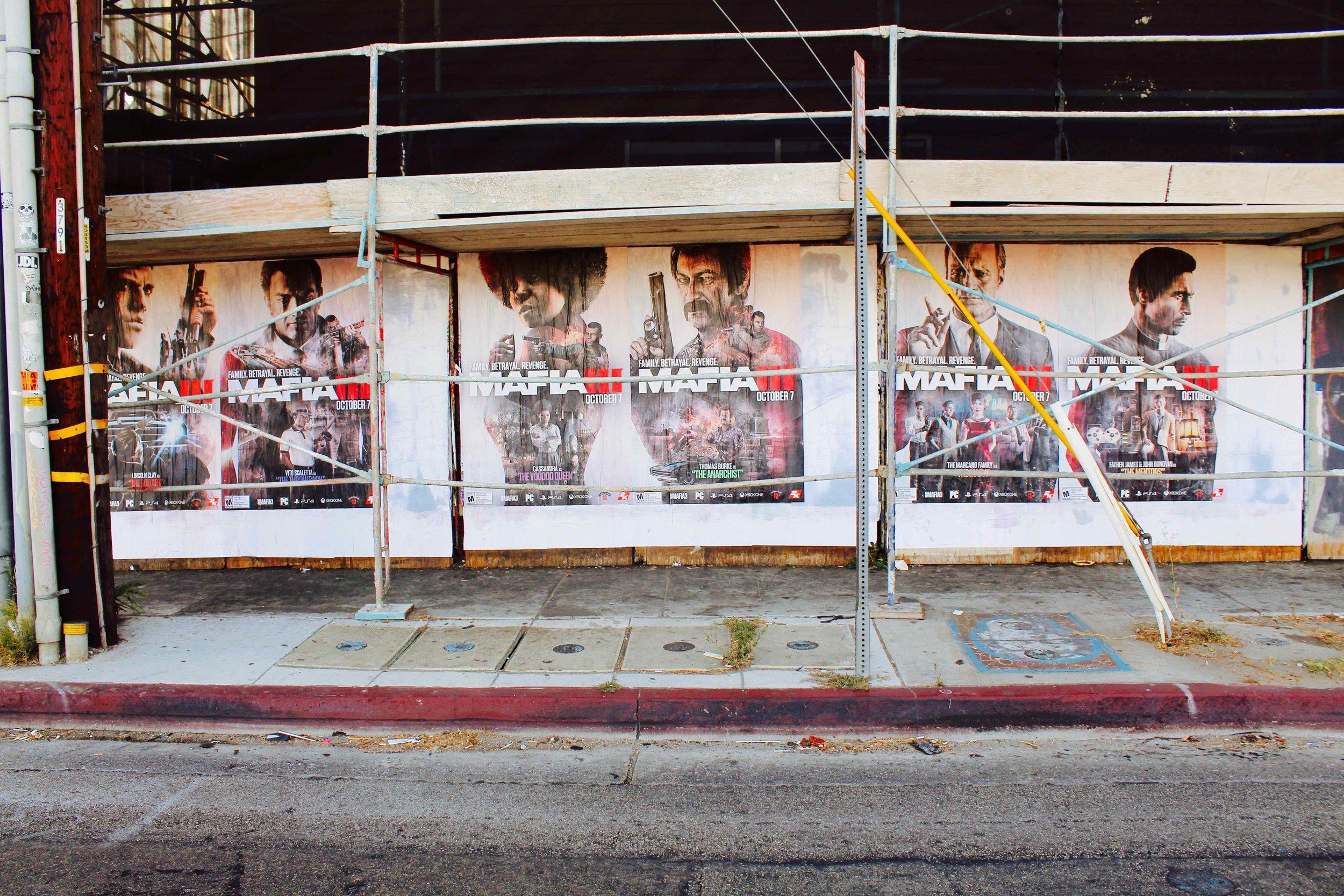 OMG | Guerilla Marketing | Wild Posting | Mafia III | Los Angeles