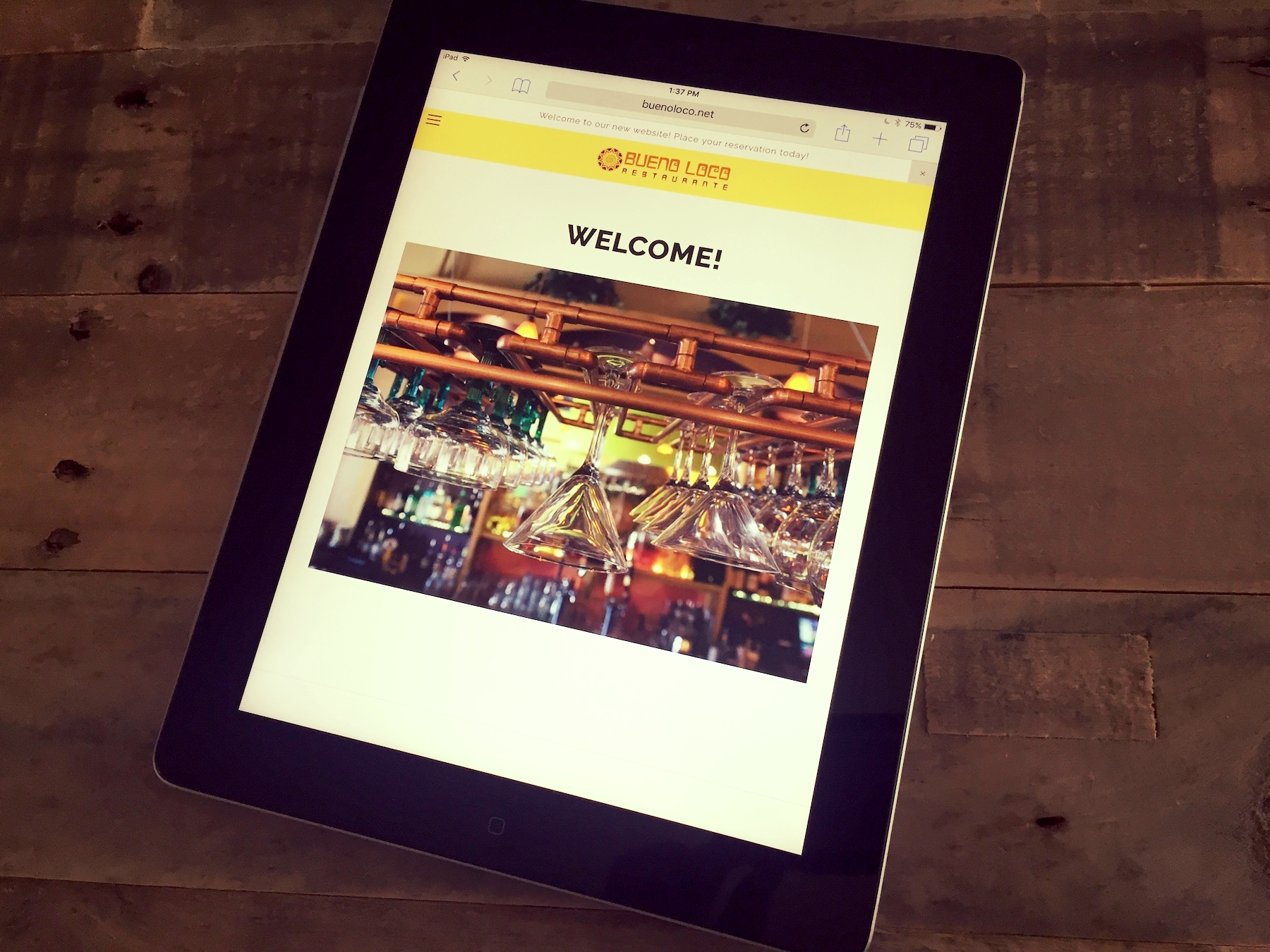 On Media Group | OMG | Digital Marketing | Website Design | Tablet View | Bueno Loco.JPG