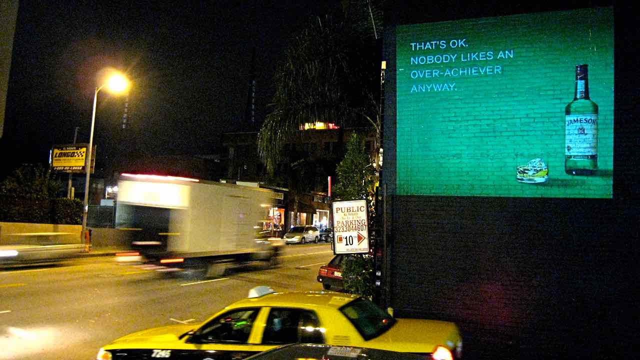 OMG | OnMedia |Guerilla Marketing | 2D Projection Media | California | Los Angeles | LA | Jameson Irish Whiskey.jpg