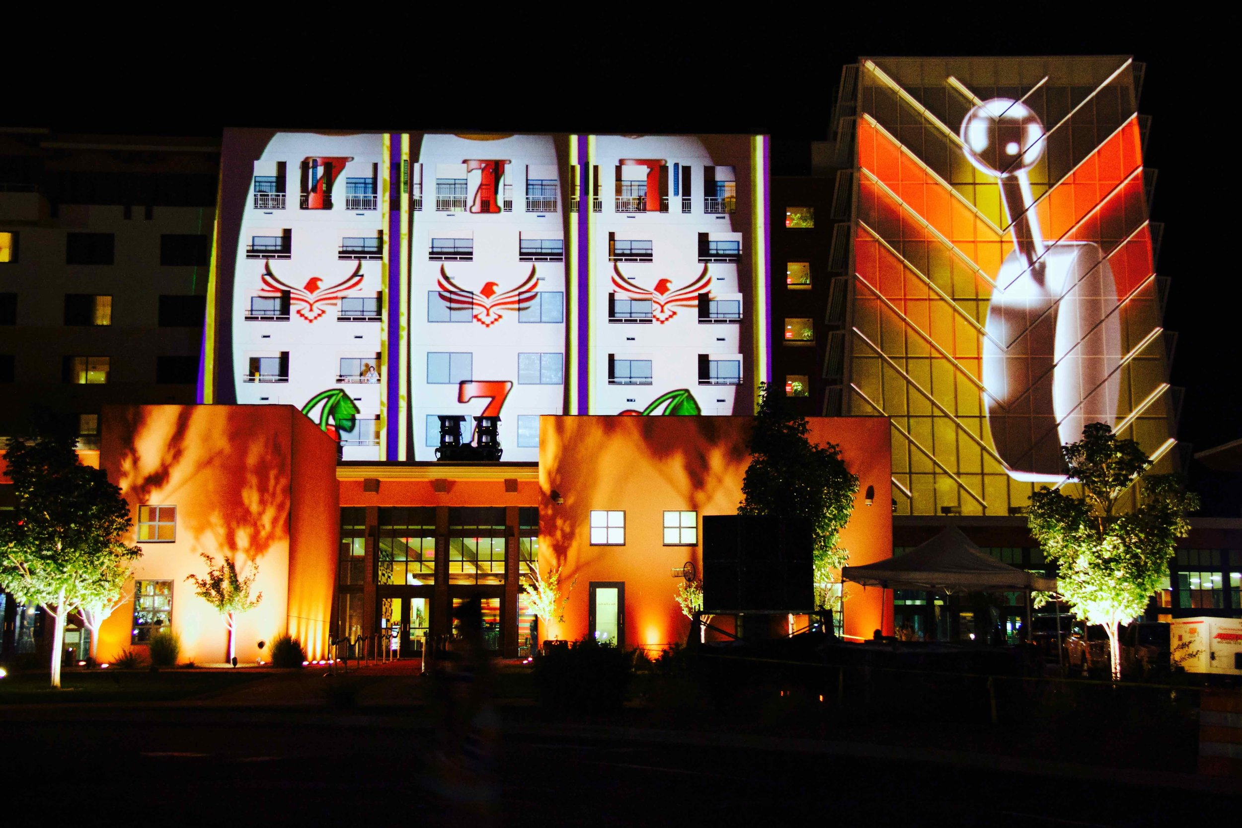 OMG | OnMedia | Experiential Marketing | Mobile Billboards | 3D Architectural Projections | Projection Mapping | Isleta casino | new mexico-4.jpg