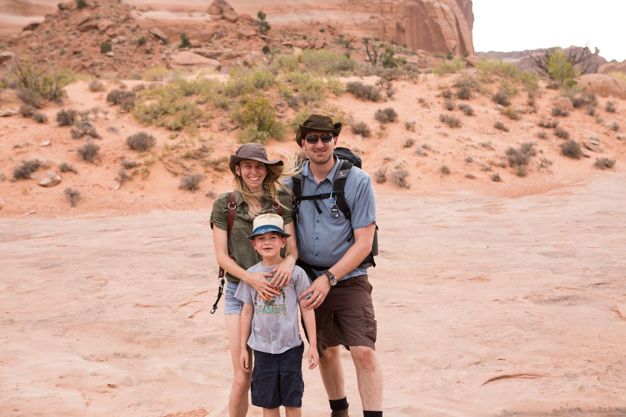 Adventure family portrait