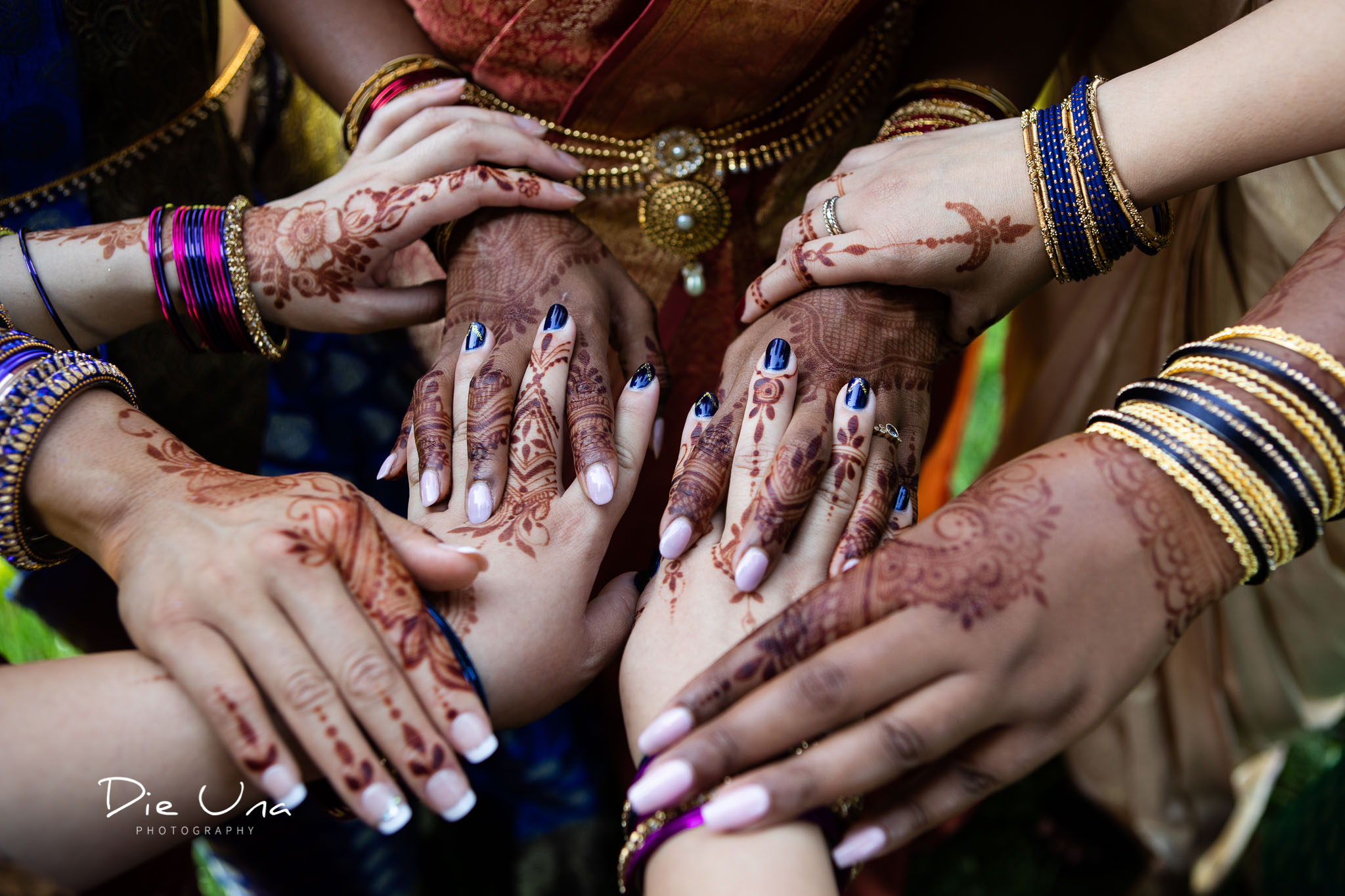 Bride and bridsmaids henna tattooed hands for Hindu Sri Lankan wedding in Toronto.jpg