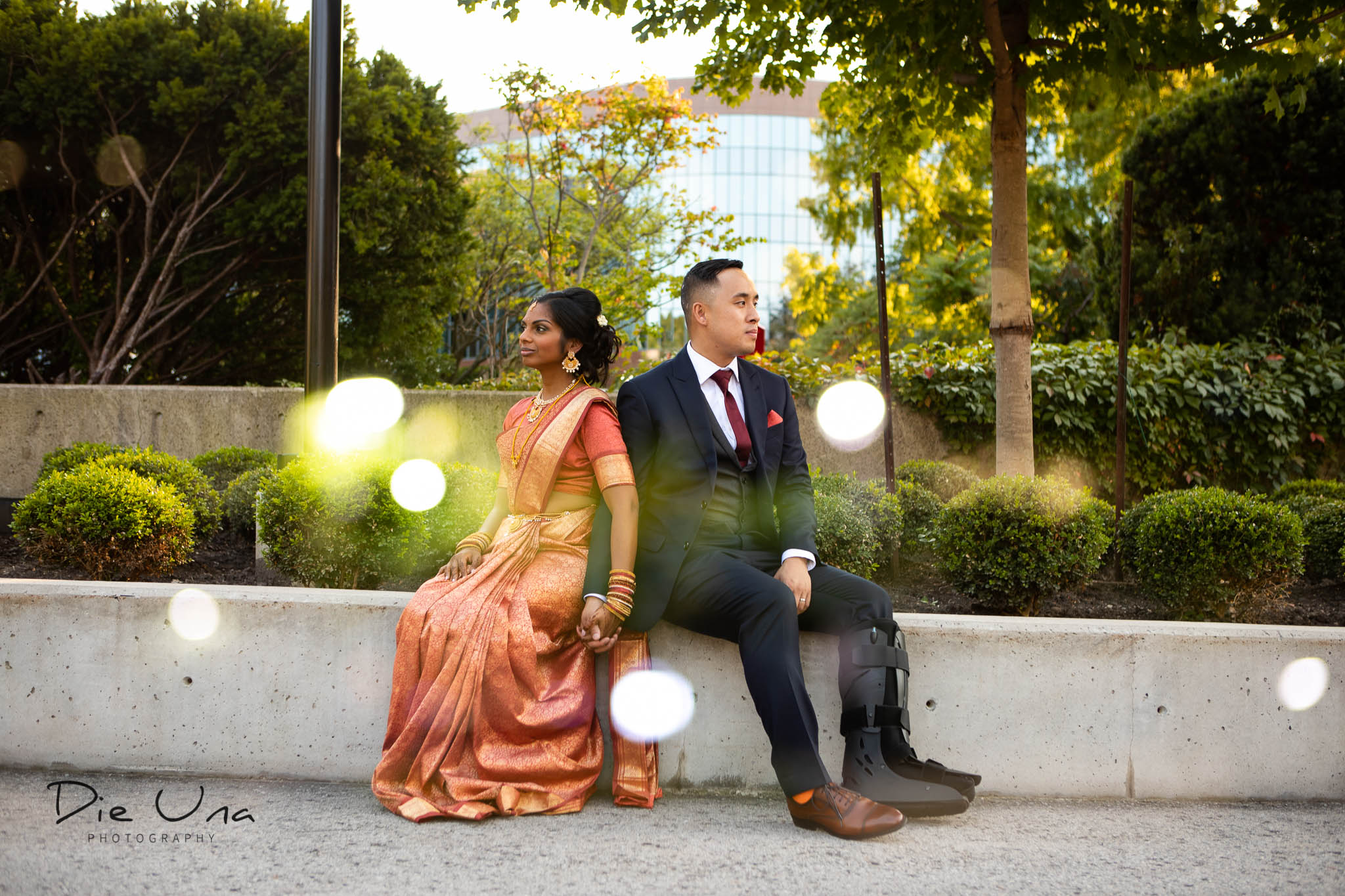 creative double exposure image of bride and groom in Toronto.jpg