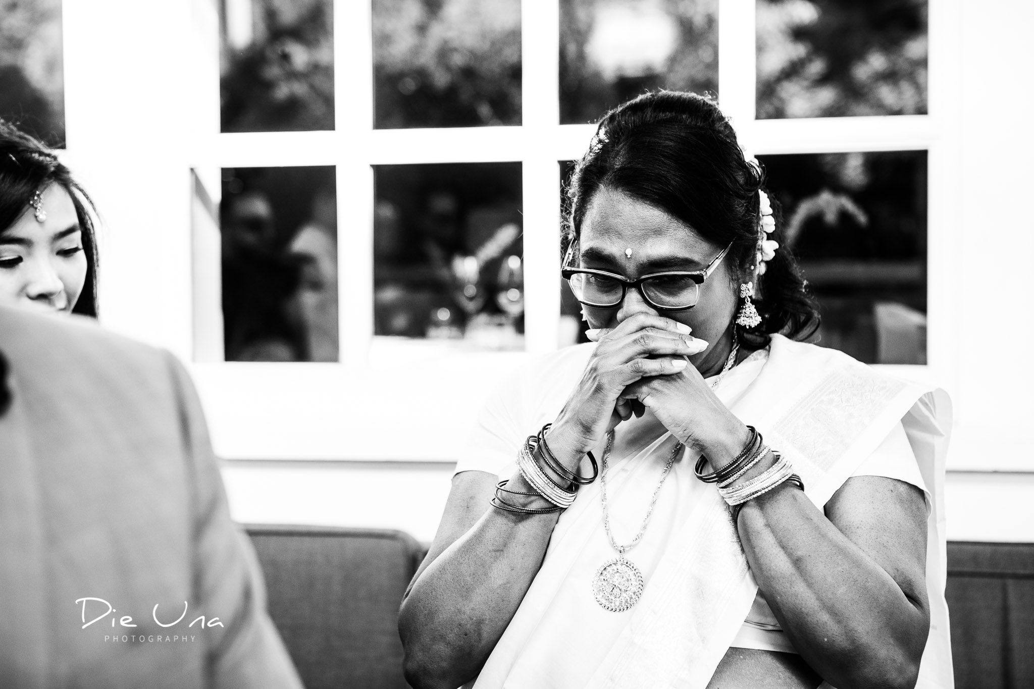 emotional mother of the bride during ceremony at au berge du pommier.jpg