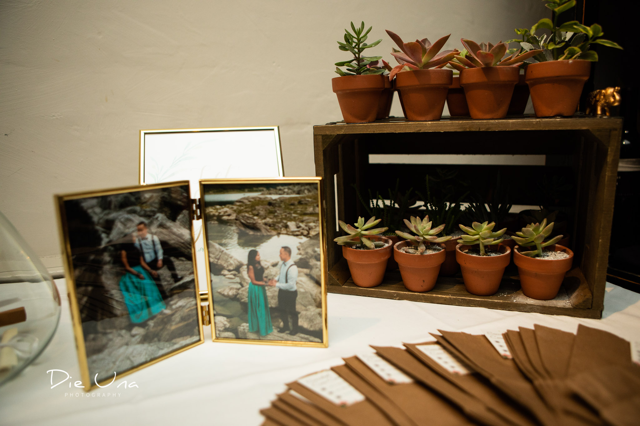 wedding details at reception with tiny succulents.jpg