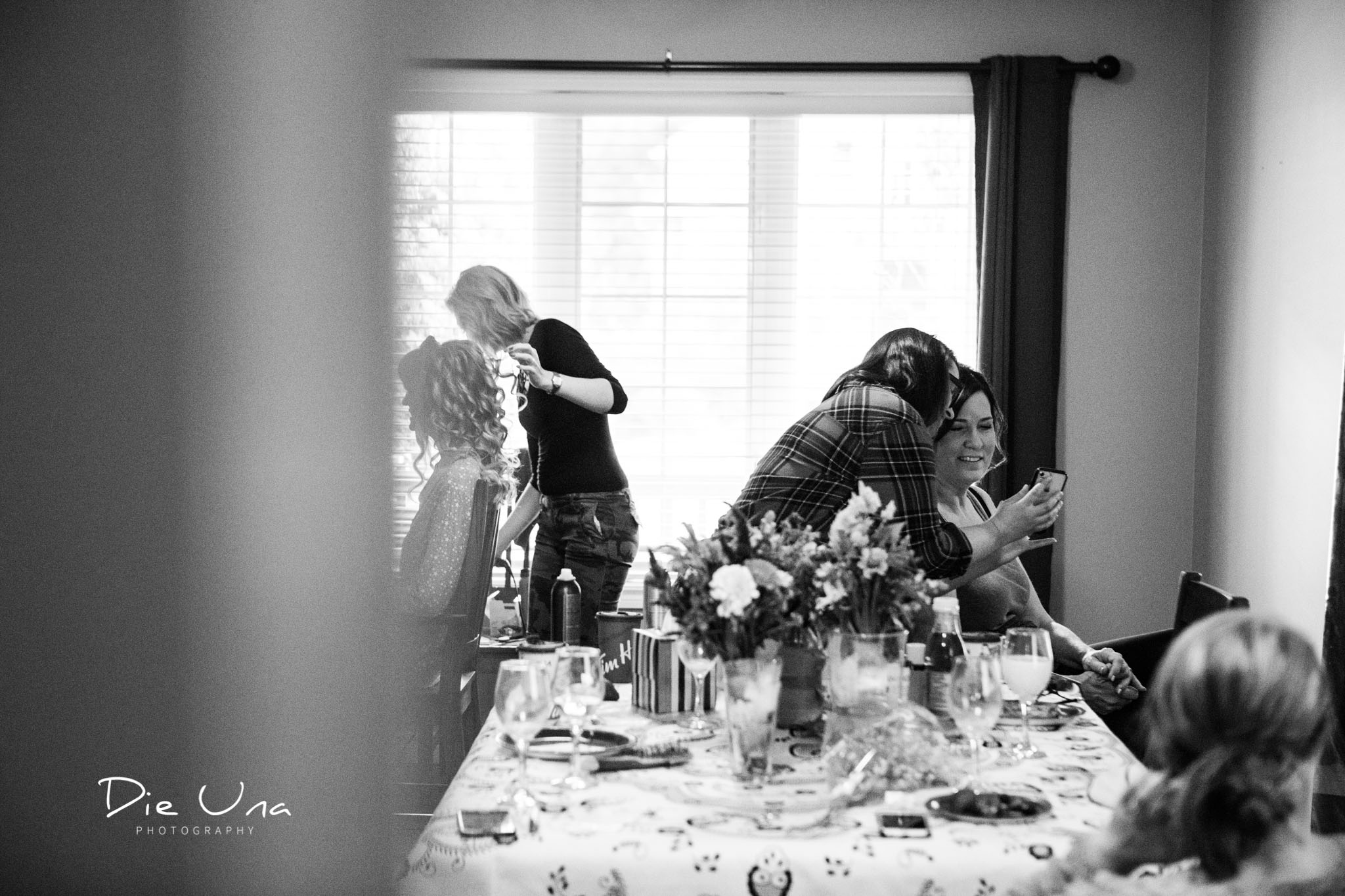 black and white wedding photography bride and MOB getting ready for wedding day.jpg