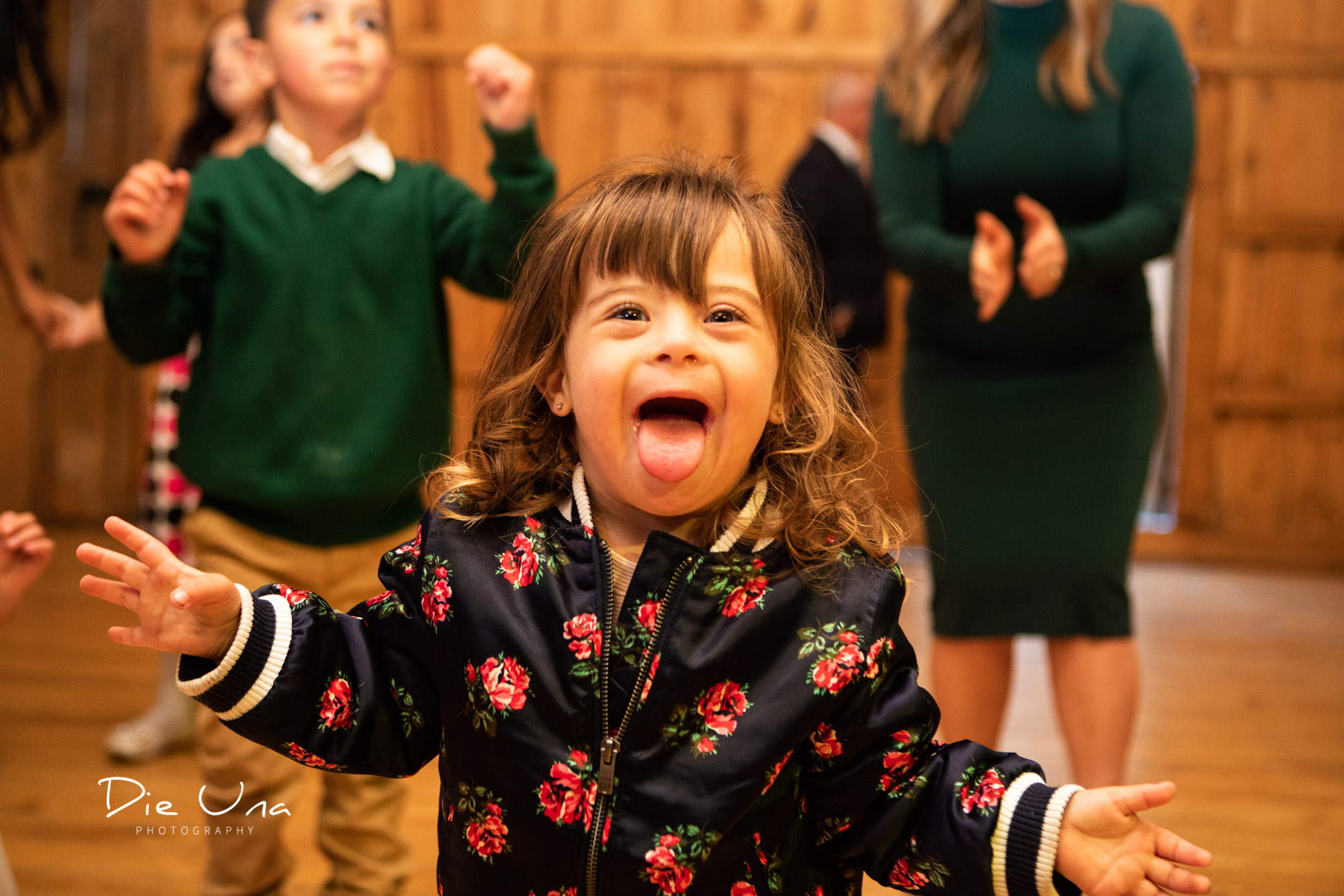 tiny human dancing during wedding reception in a barn kitchener wedding photographer.jpg