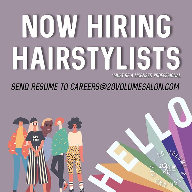 We are hiring hairstylists! Join our family!