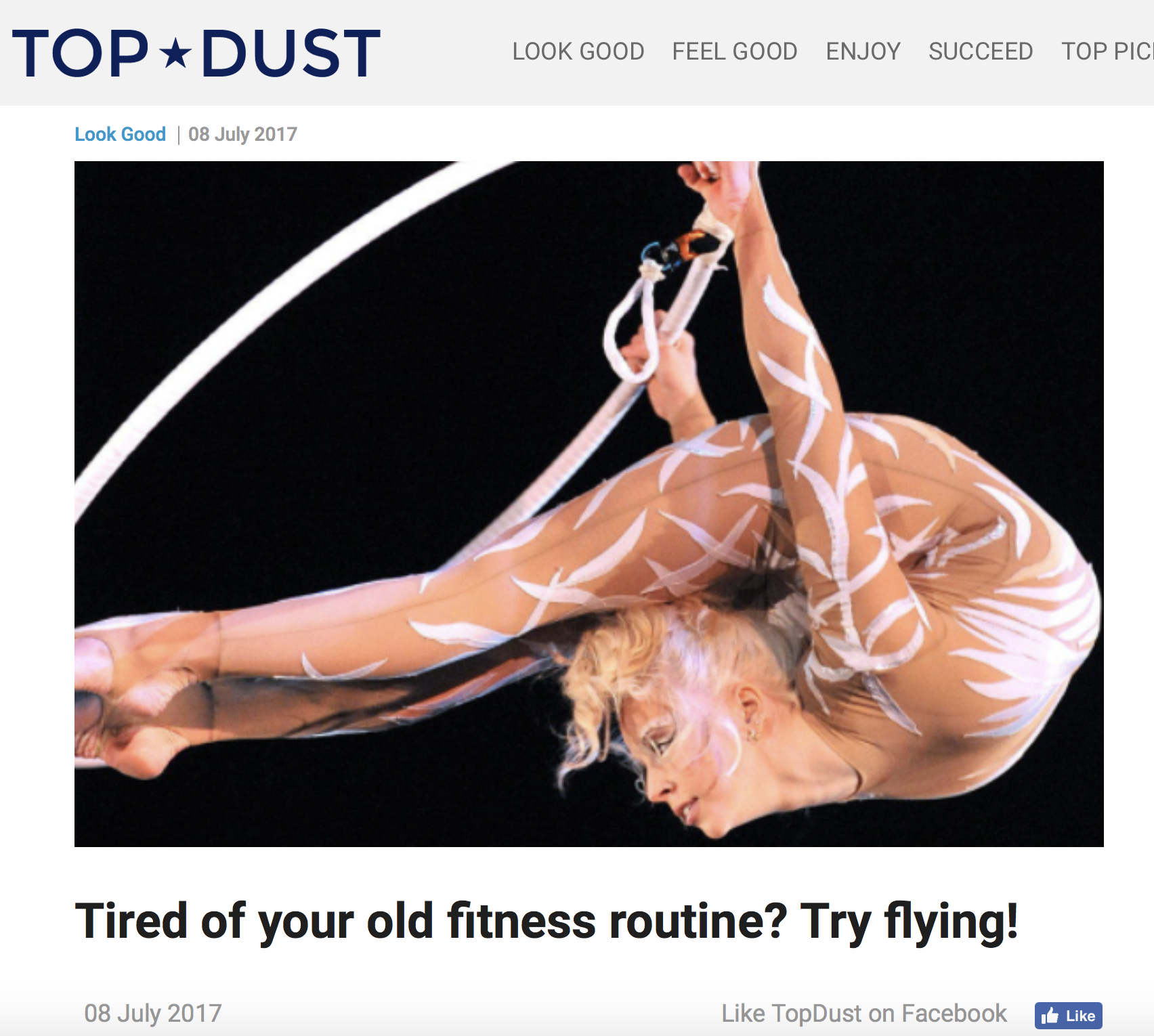 Lyra Article - with Crunch Fitness