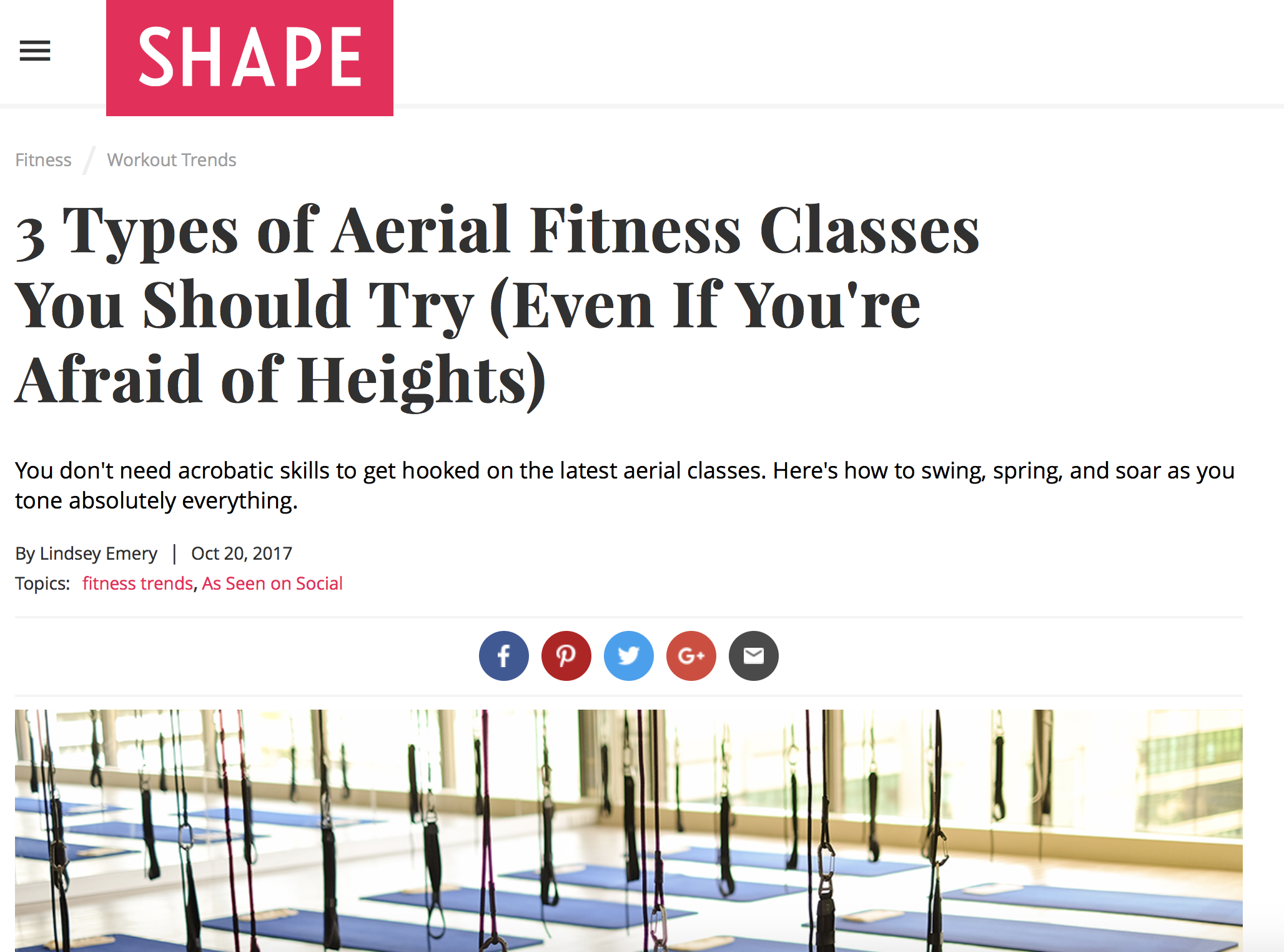Fitness Article - with Crunch Fitness