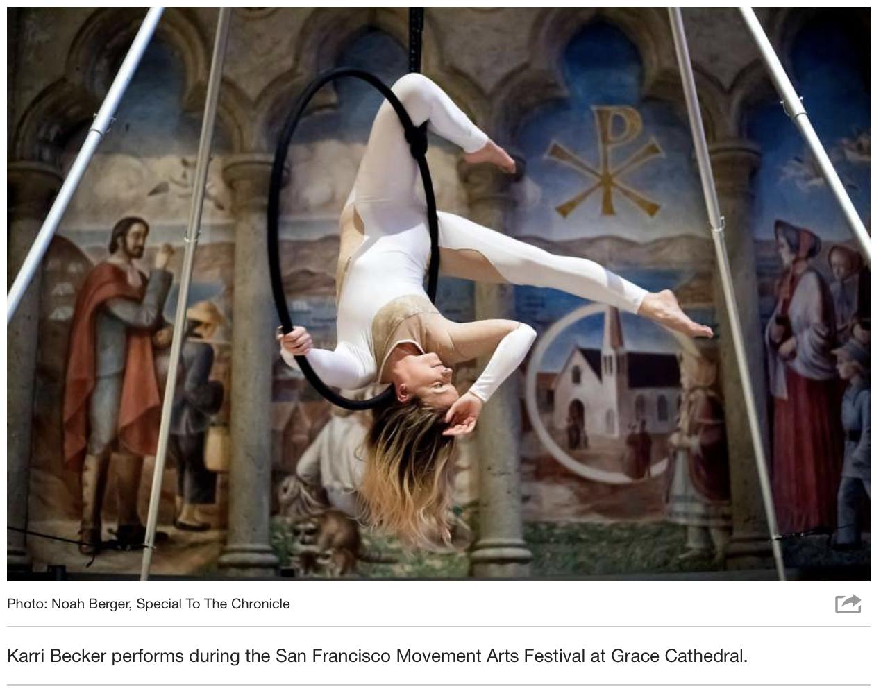 SF Chronicle - Movements Arts Festival / Aerial Arts Association