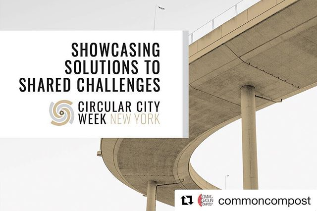 Are you registered for any #circularcityweek events yet? If not, we suggest heading over to circularcityweek.com and registering ASAP, seats are selling out fast for this series of events, workshops, and tours! Everything is focused on #circulareconomy, closing the loop, finding value in waste, and the presentation of successful models of reuse and reduction from around the globe. #nyc March 4-8, hope to see you there!! #zerowaste