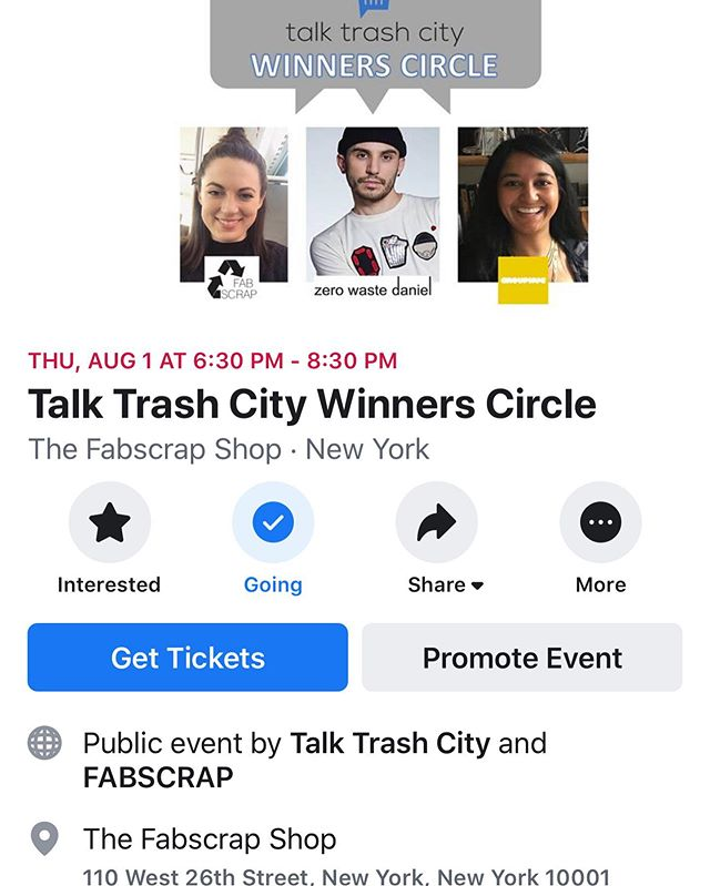 See you next week? #trashinnyc #wasteasresource #trashistreasure link in bio @fab_scrap @zerowastedaniel @grouphugtech