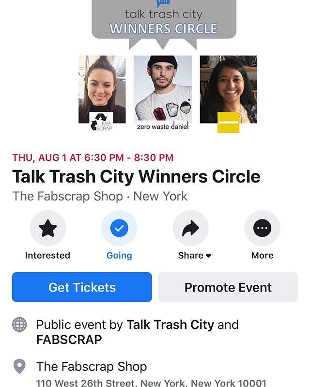 See you next week? #trashinnyc #wasteasresource #trashistreasure link in bio @fab_scrap @zerowastedaniel @grouphugtech