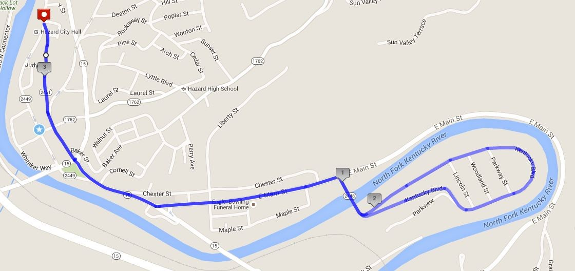 Run for the Hills 2016 will start on Main Street near City Hall and take High Street and East Main to a loop through Woodland Park.