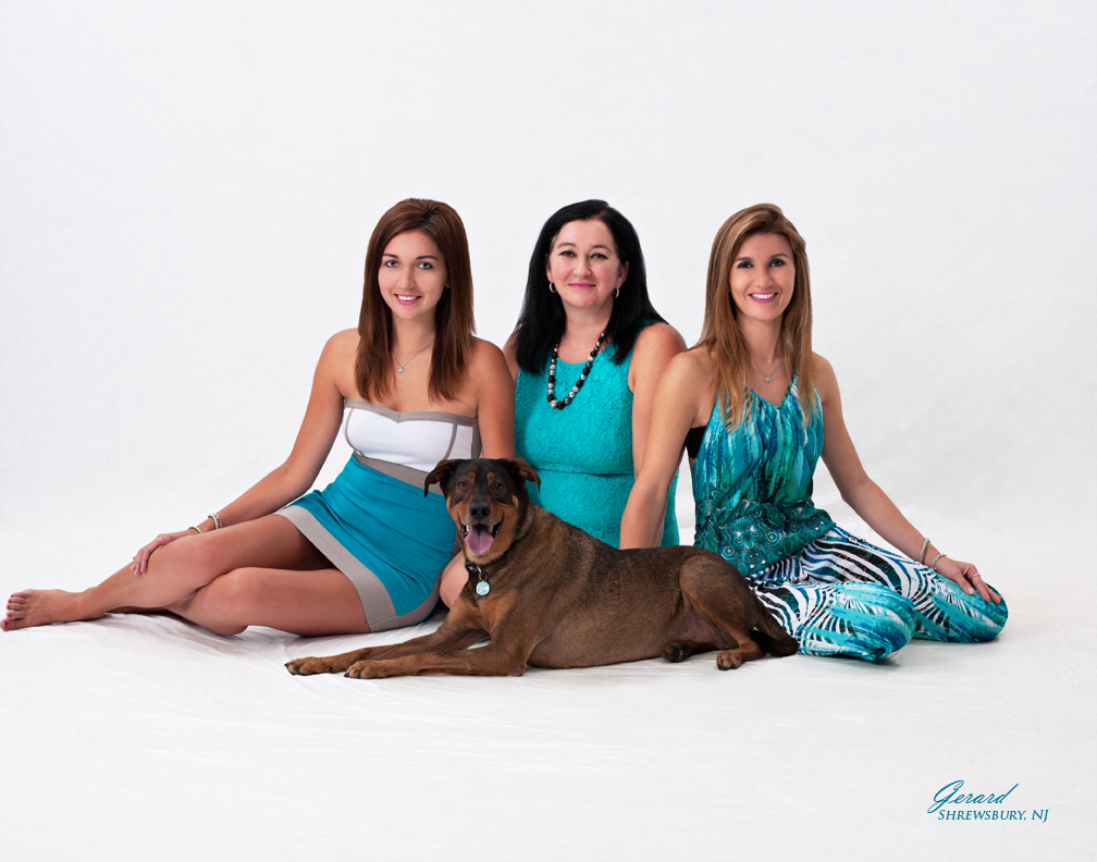 Here is Justyna Kuczah, her sister and mother (who also work with her) and Taffy, the faithful pup mascot of Waggin' Wheels Express!