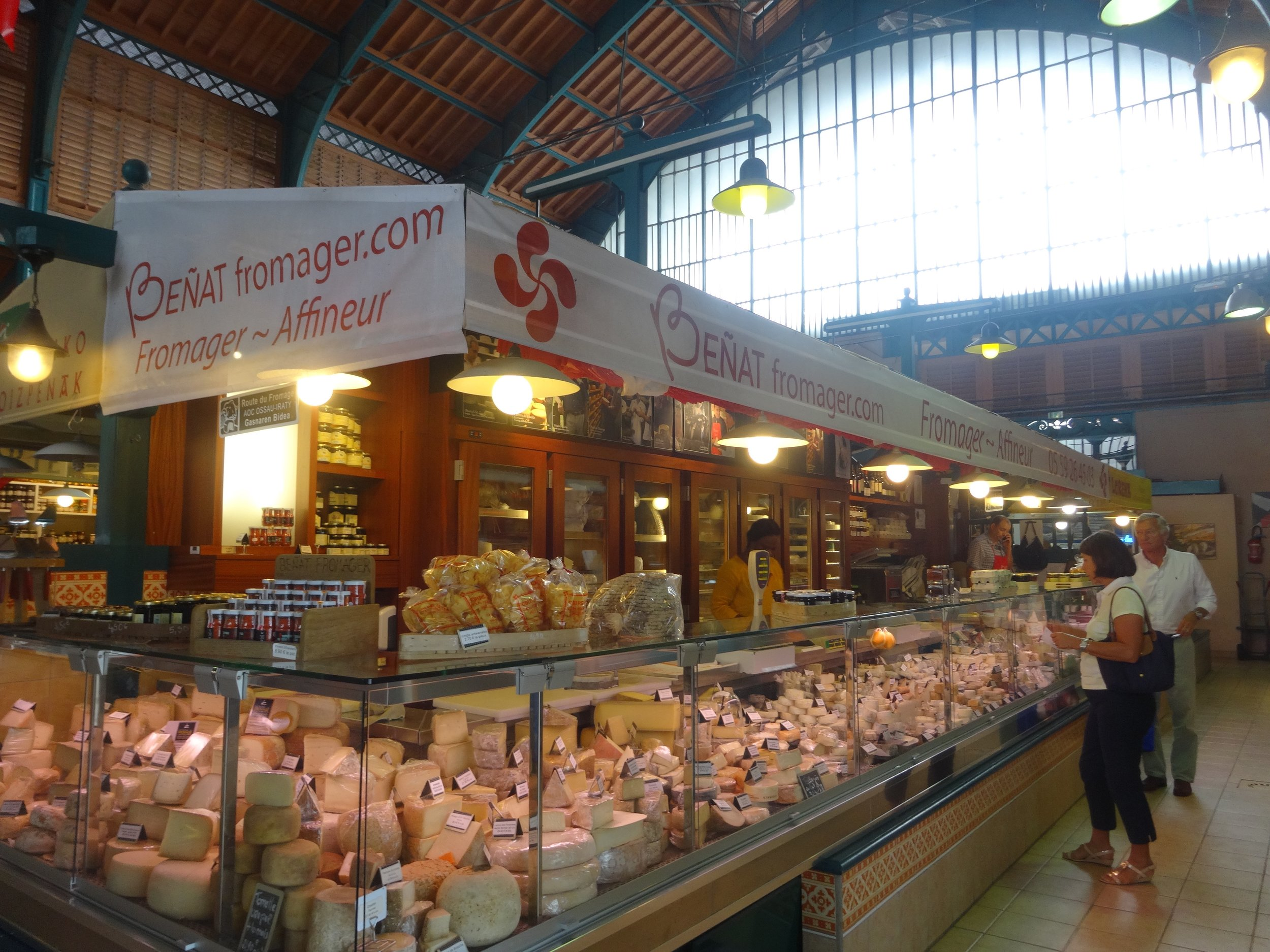 indoor market hall in St. Jean de Luz