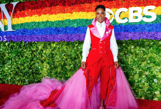 Billy Porter in a gender fluid dress at the Tony Awards