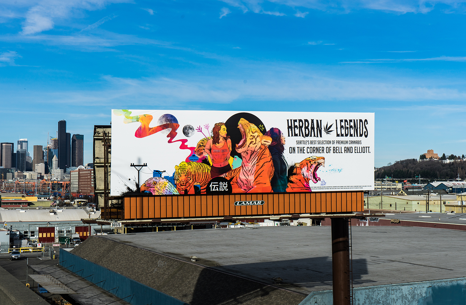 I'm pretty hyped on this one.  Herban Legends  had me design their new billboard. You can see this on highway 99 north just past the West Seattle bridge.