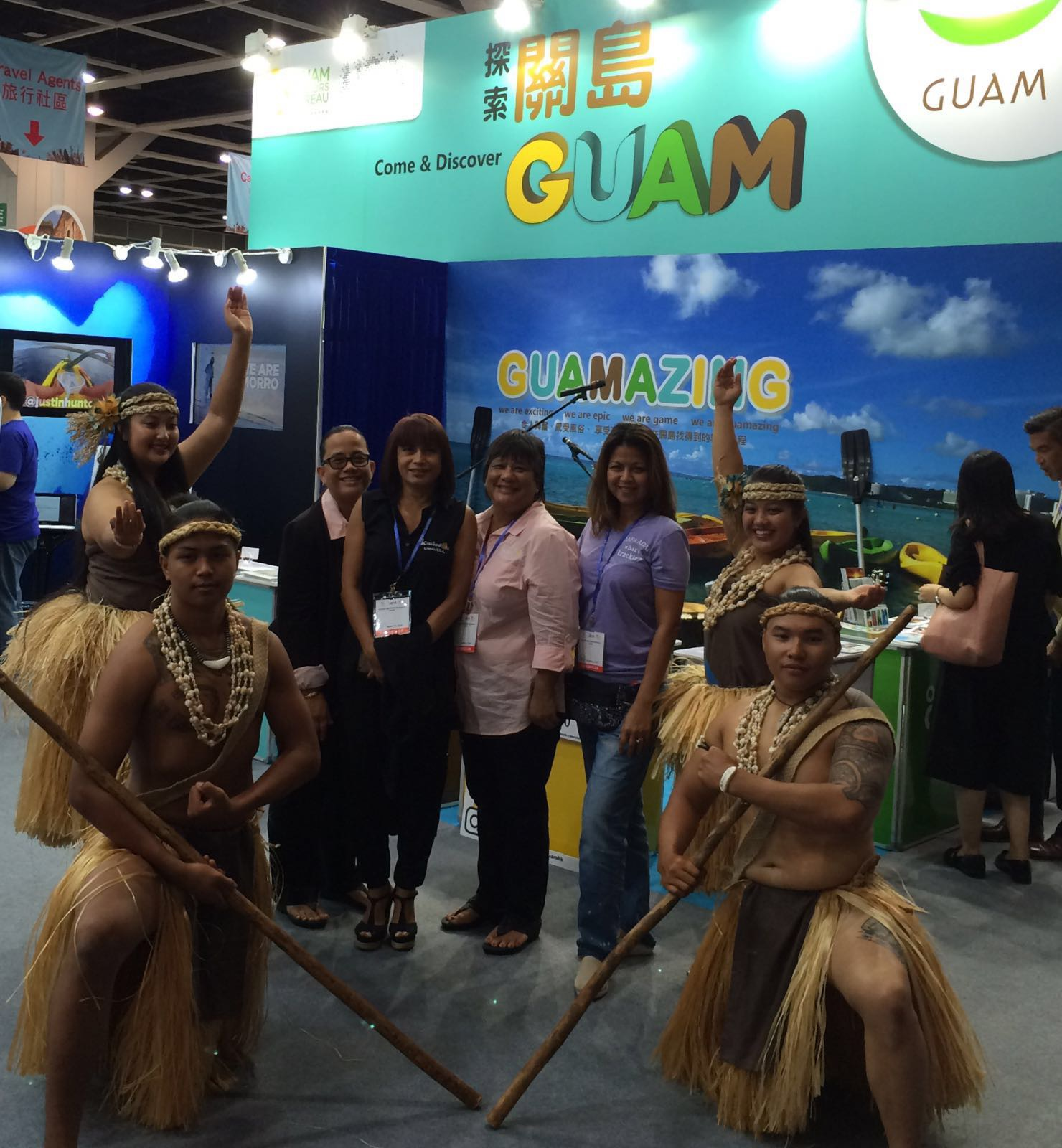 Kracked Egg Owners in attendance at The 30th International Travel Expo in Hong Kong.From Left:Jennifer Muna Aguon, Annmarie T. Muna, Antonita (Toni) Blas, and Lory Tydingco