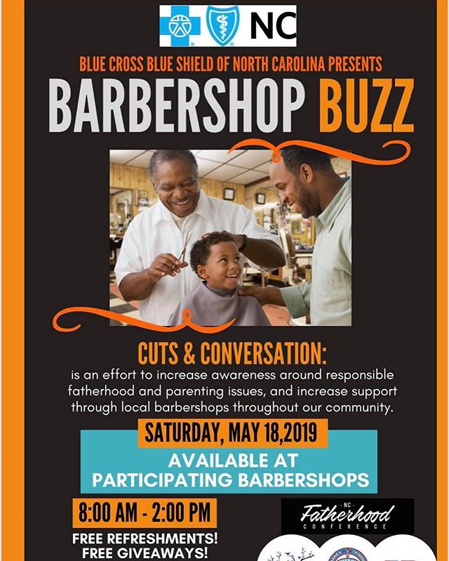"Saturday May 18th New Hanover County Partnership For Fatherhood will be at Just Cut It Barbershop from 10am - 12noon for a Barbershop Buzz event which is a state wide initiative for Fathers to come together and start having that real ""Barbershop Talk"" around the different  levels dynamics, struggles and obstacles of being a father! Be sure to come out!"