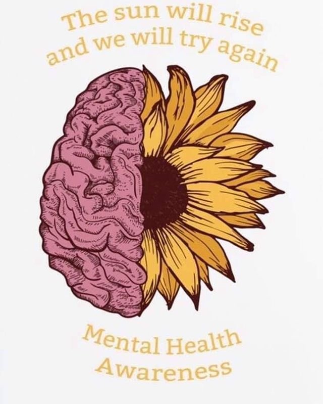 Mental Health Awareness month is important for EVERYONE! Please reach out to your peers, partners, friends! There are resources in the community to help you through your tough times. You are not alone!