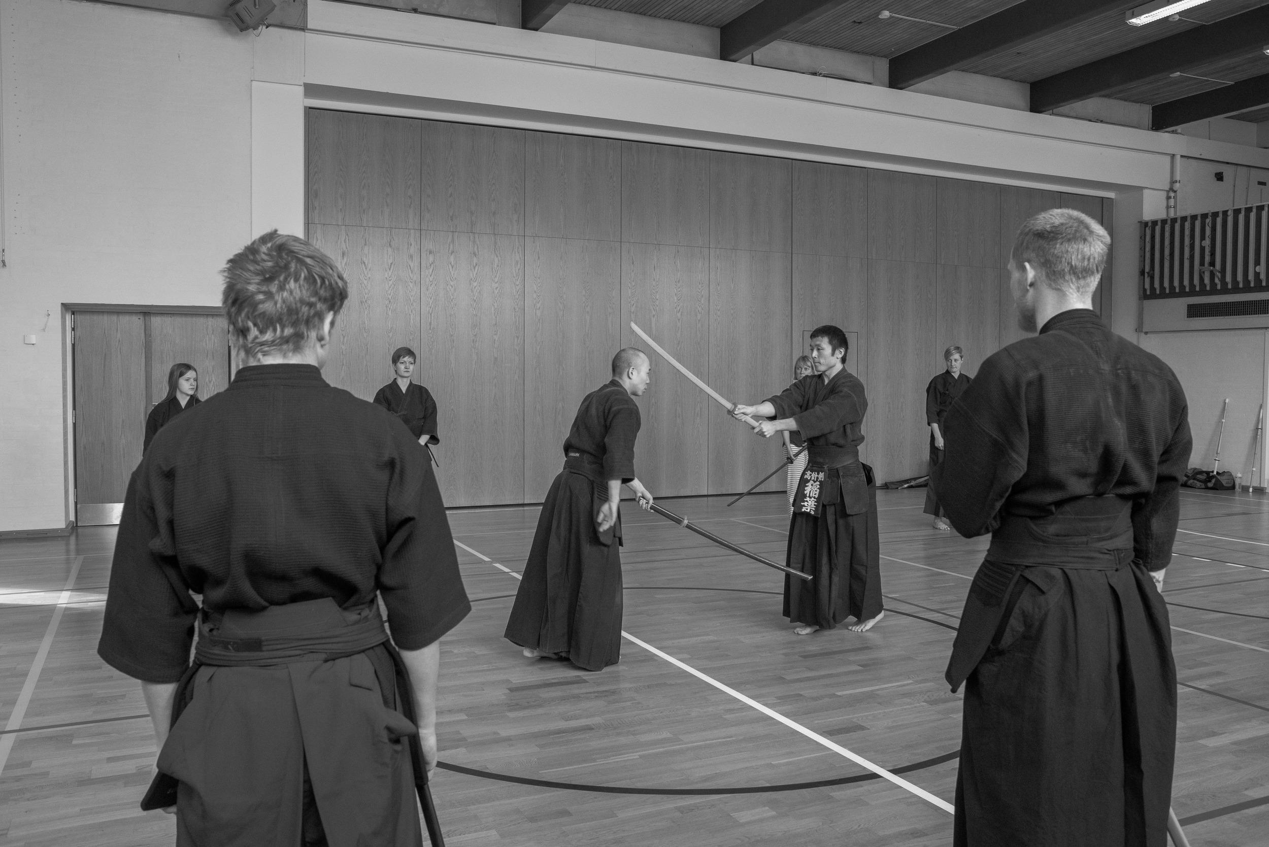 Yosuke Ueda og Masanori Inaba demonstrerer kata ipponme
