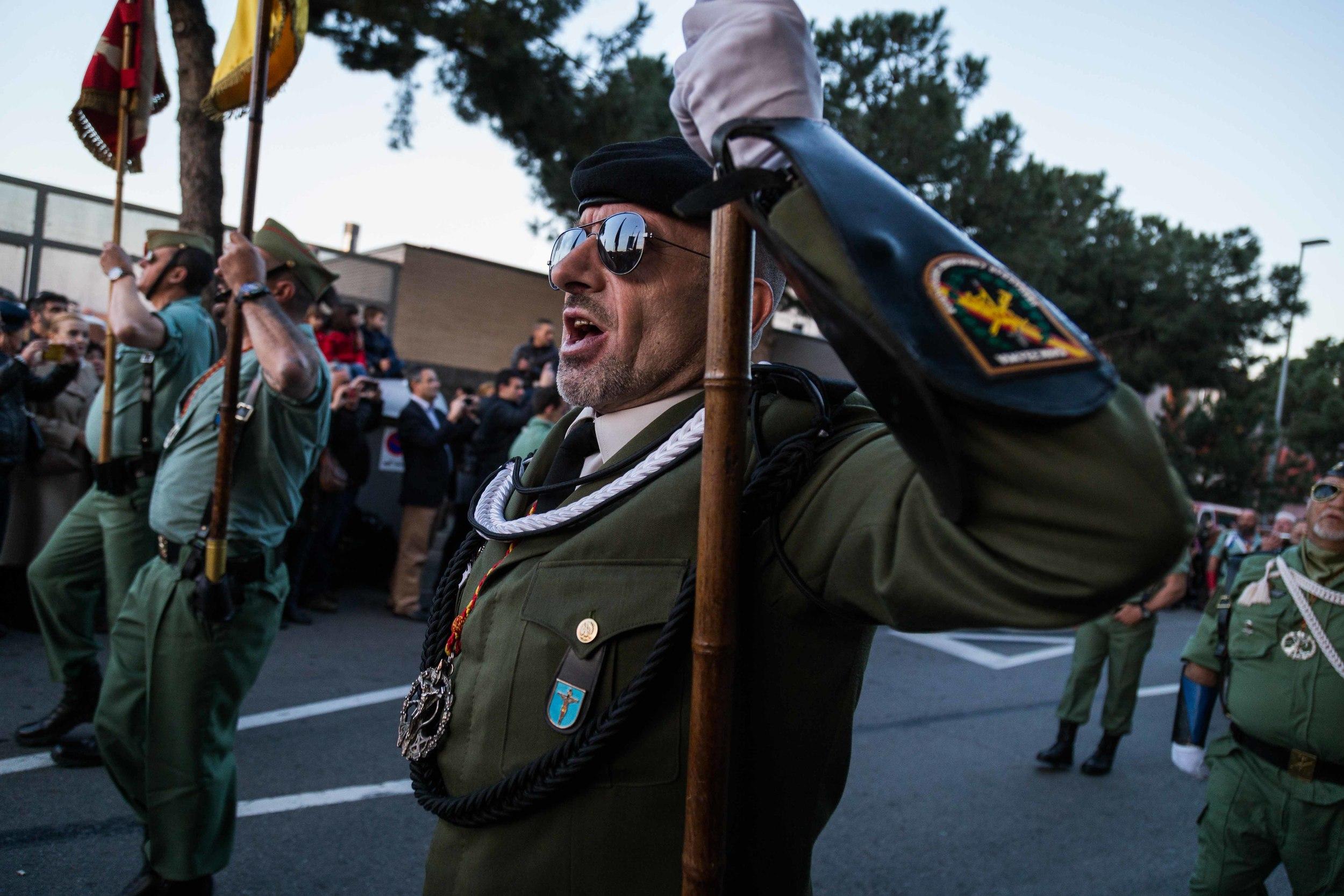 Procesión de los legionarios en l'Hospitalet del Llobregat