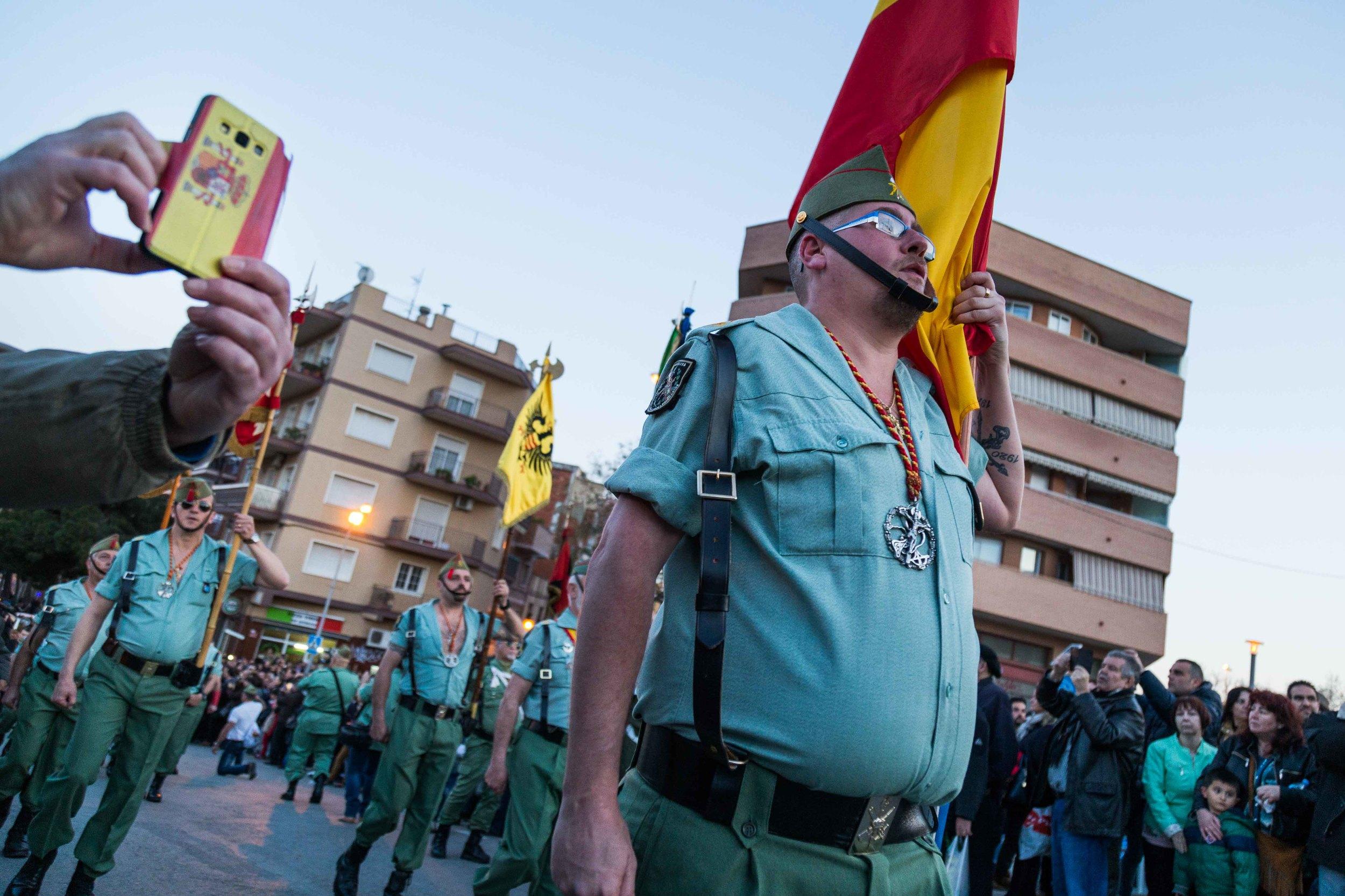 Procesion de los Legionarios en l'Hospitalet del Llobregat