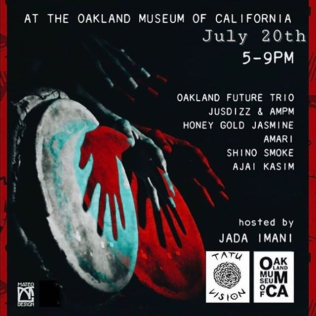 #Friday we're performing with a bunch of #HeavyHitters. Join us at #OMCA, 5-9pm. #OaklandFutureTrio