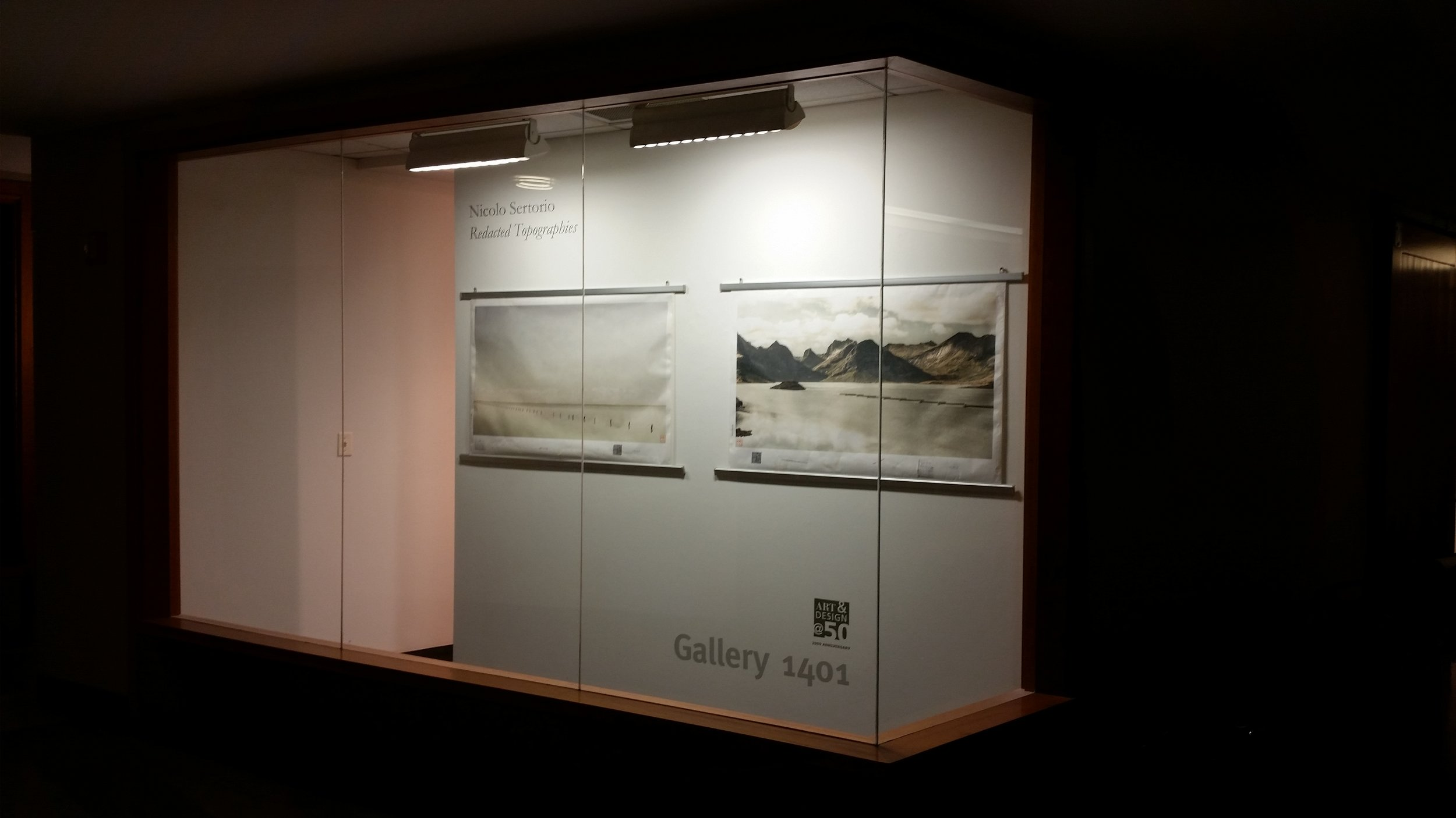 'Redacted Topographies' solo show