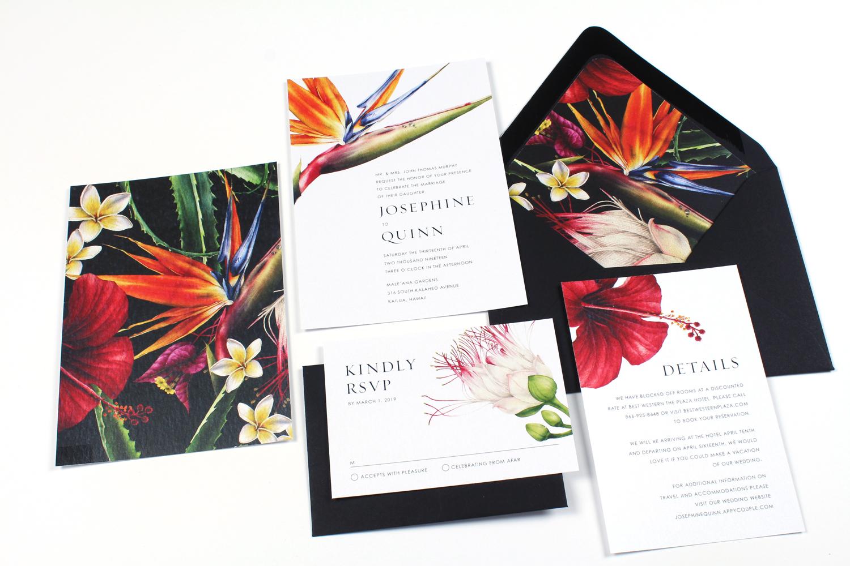 Rachel Floral Wedding Invitations Deposit