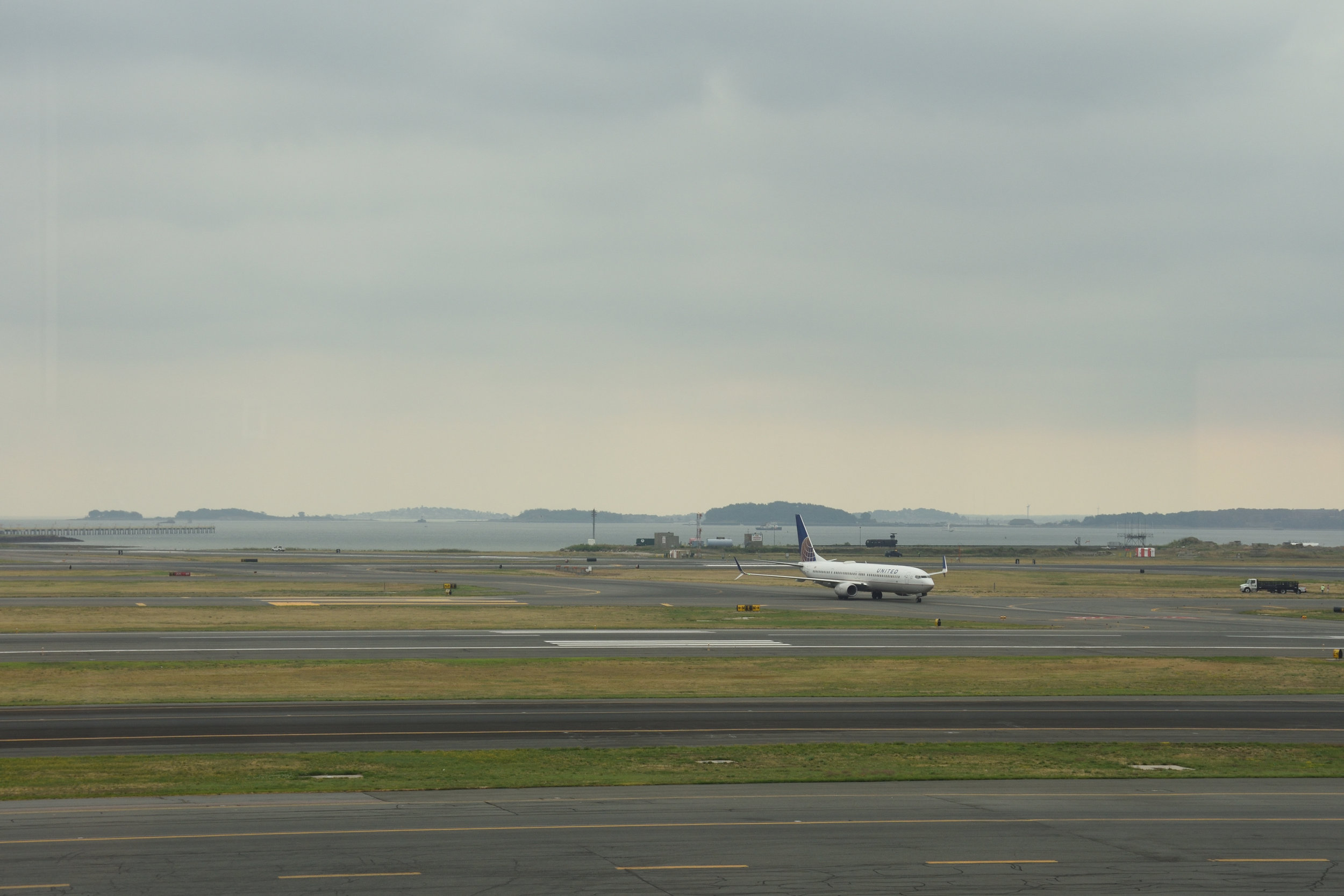 Boston Logan Airport - view from lounge