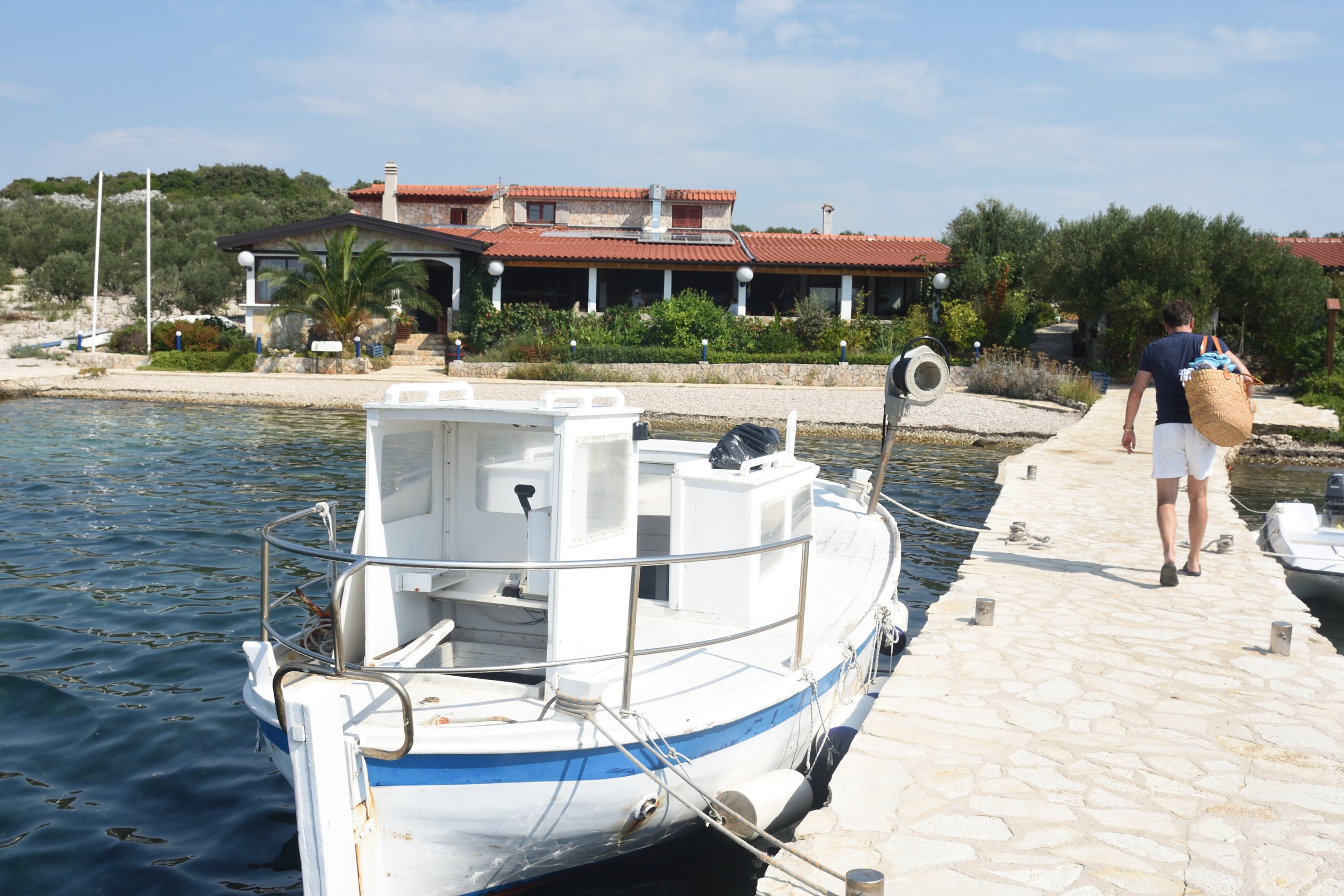 Ashore on a small island Kornati Islands