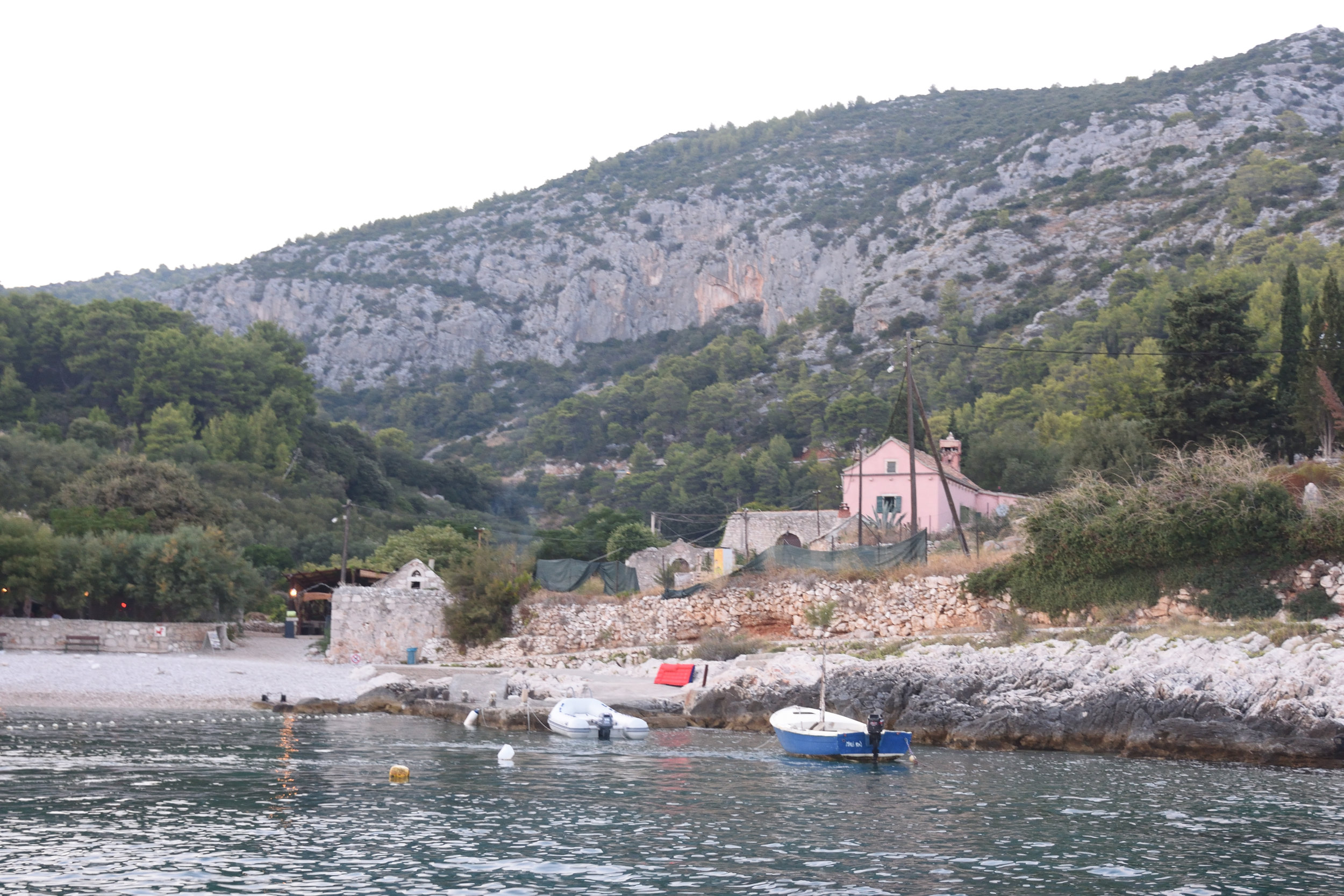 The bay we stayed in for late lunch, Hvar Island, Croatia 2016