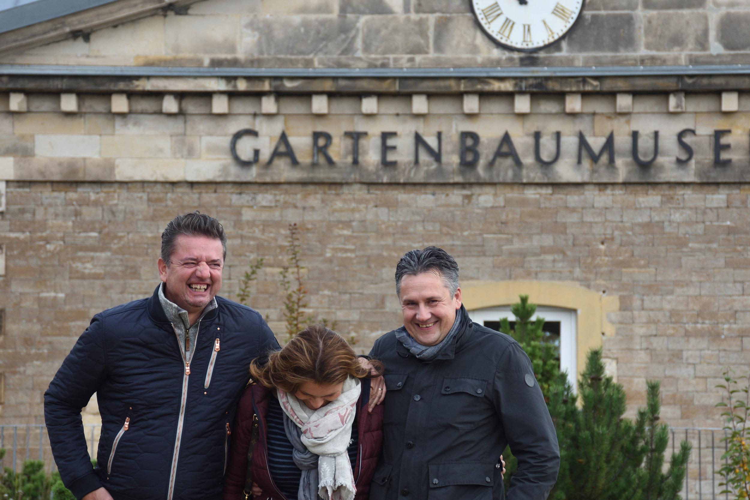 Bojan, Johanna & Ingo Noreik in egapark, Erfurt, Germany 2016